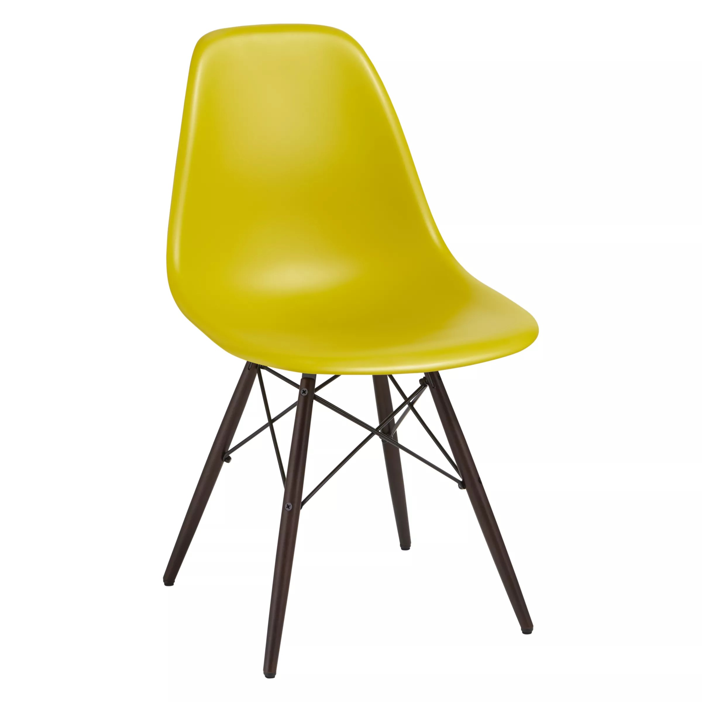 Vitra Eames Side Chair Vitra Eames Dsw Side Chair Dark Maple Leg At John Lewis Partners
