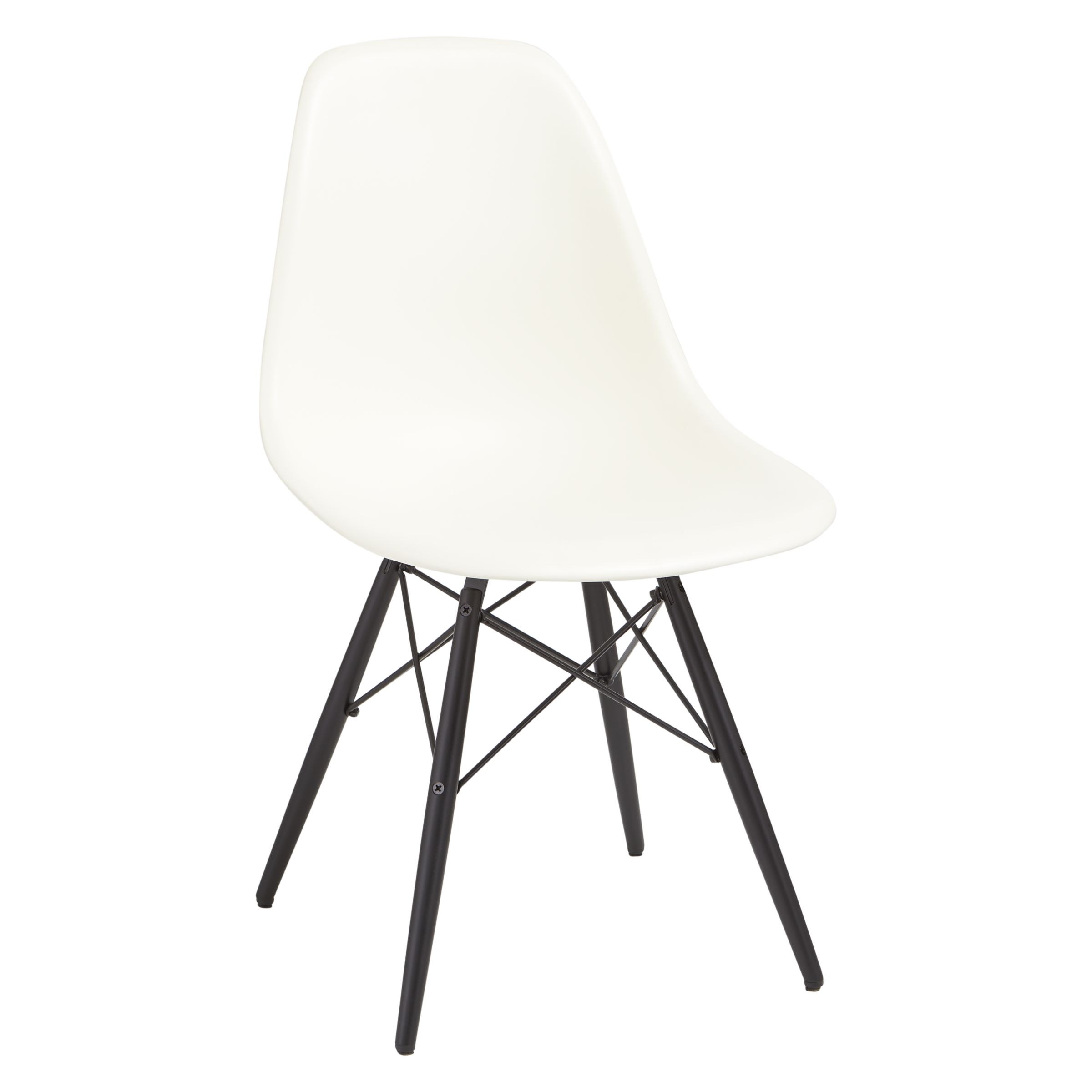 Eames Sessel Vitra Vitra Eames Dsw Side Chair Black Maple Leg Cream