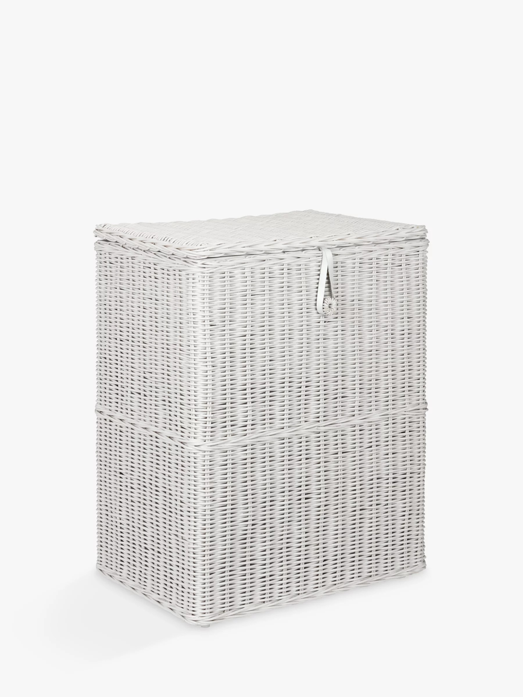 Baby Bags John Lewis Croft Collection Double Linen Basket Grey At John Lewis