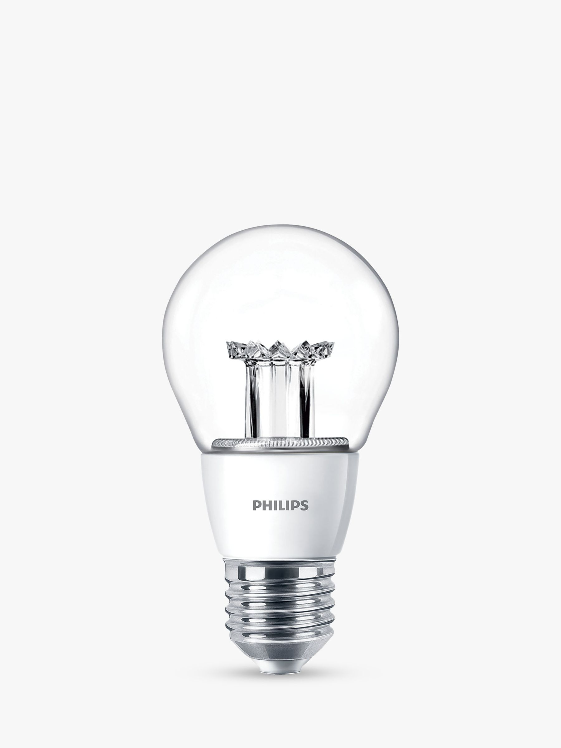 Philips Classic Led Philips 6w Es Led Classic Dimmable Light Bulb, Clear At