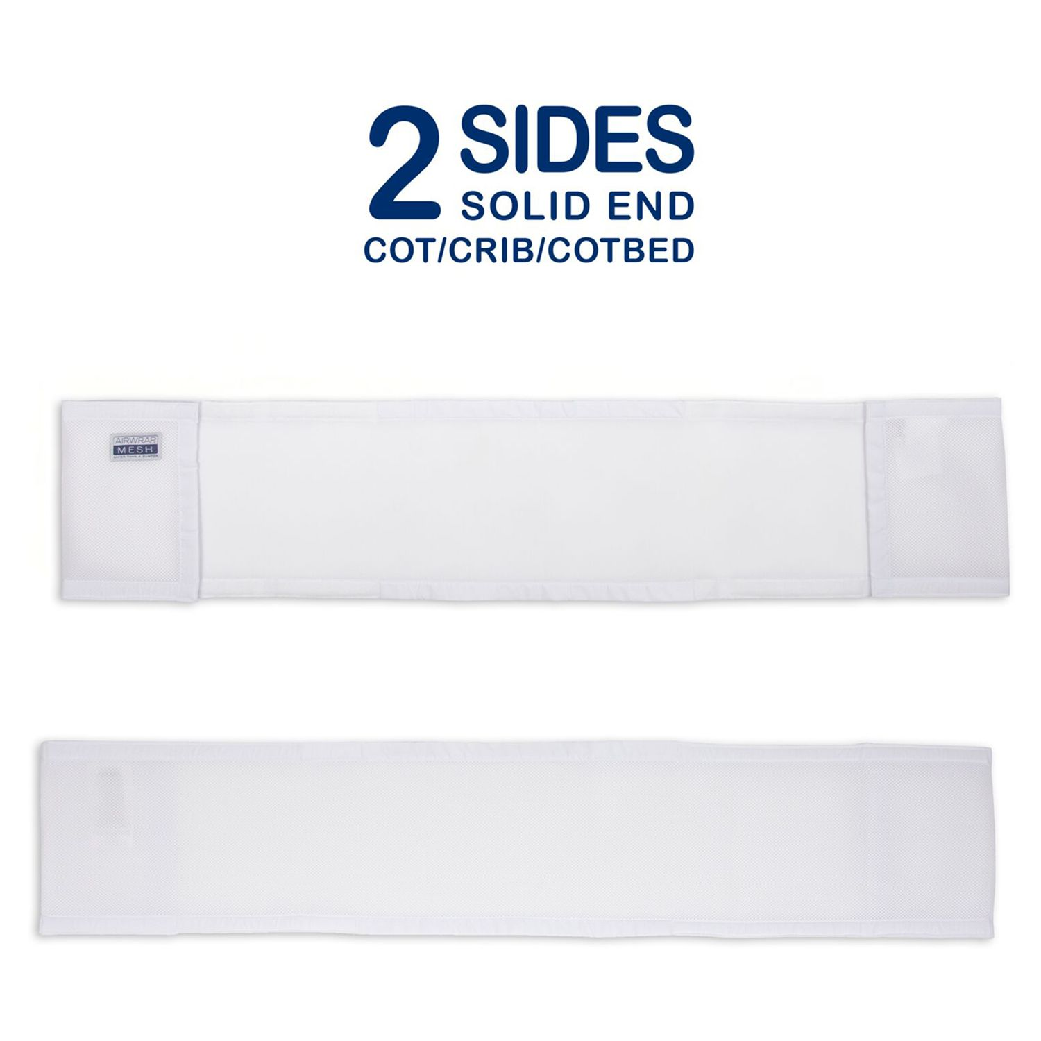 Airwrap Cot Bumper Airwrap Two Sided Baby Cot Bumper White At John Lewis Partners