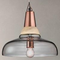 John Lewis Nalina Pendant Light, Clear/Wood at John Lewis