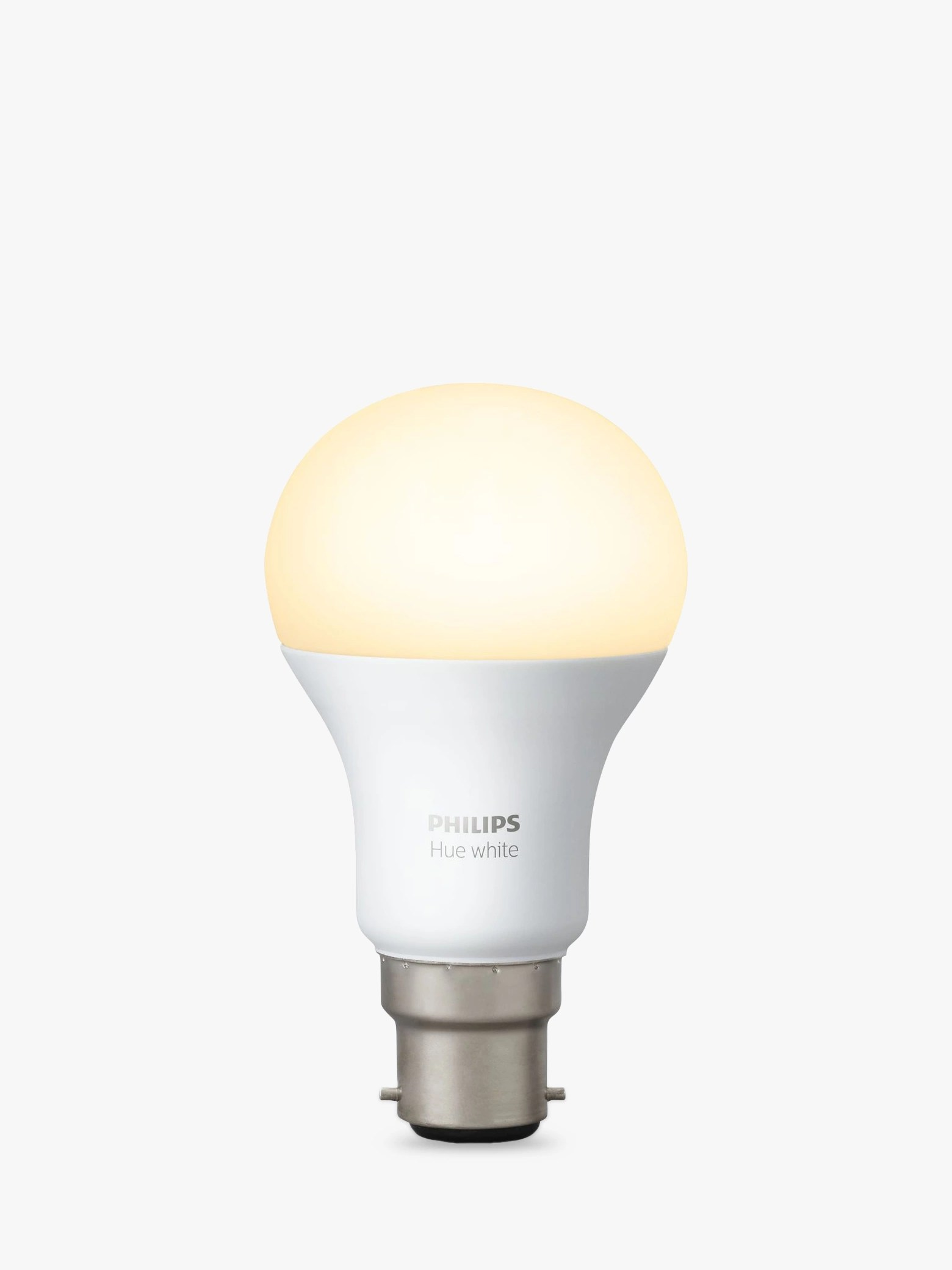 Hue Fitting Philips Hue White 9w A60 Smart Bulb B22 Fitting At John Lewis