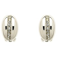 Monet Crystal Bombay Clip-On Earrings, Silver at John ...