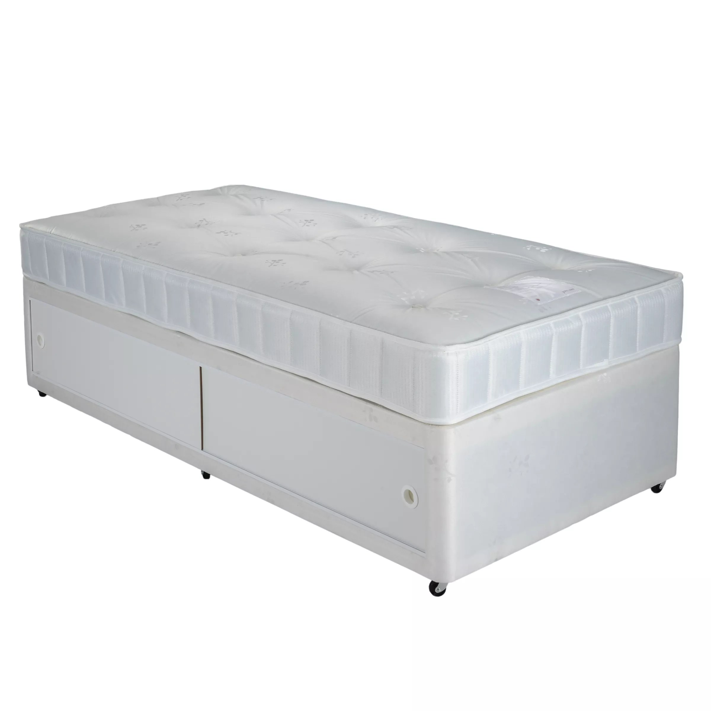 Divan Bed And Mattress Deals John Lewis Partners The Basics Collection Comfort Slide Store Divan Storage Bed And Mattress Set Single
