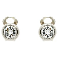 Buy Finesse Swarovski Crystal Clip-On Earrings, Silver ...