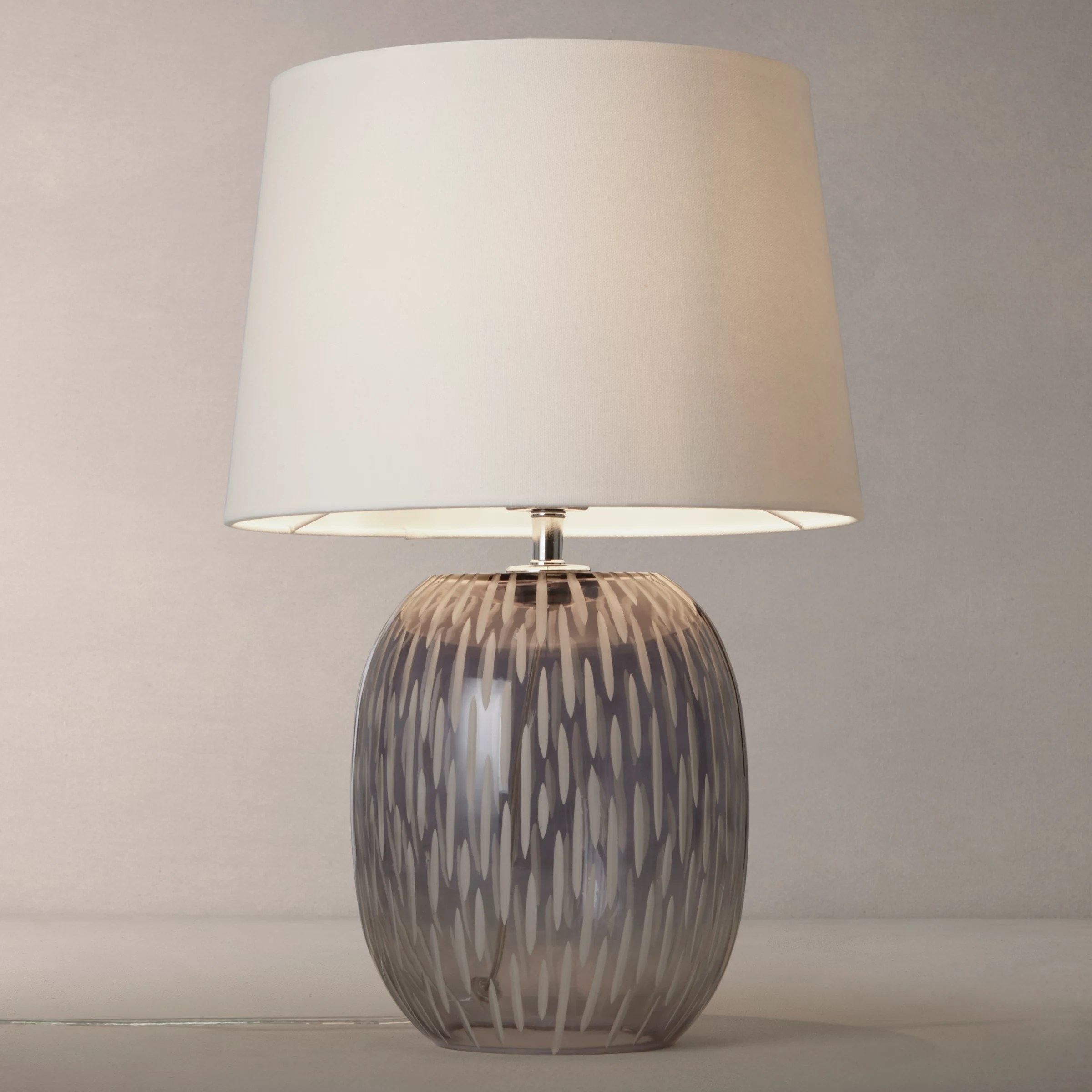 Glass Lamp John Lewis John Lewis Agatha Ombre Carved Glass Table Lamp At John