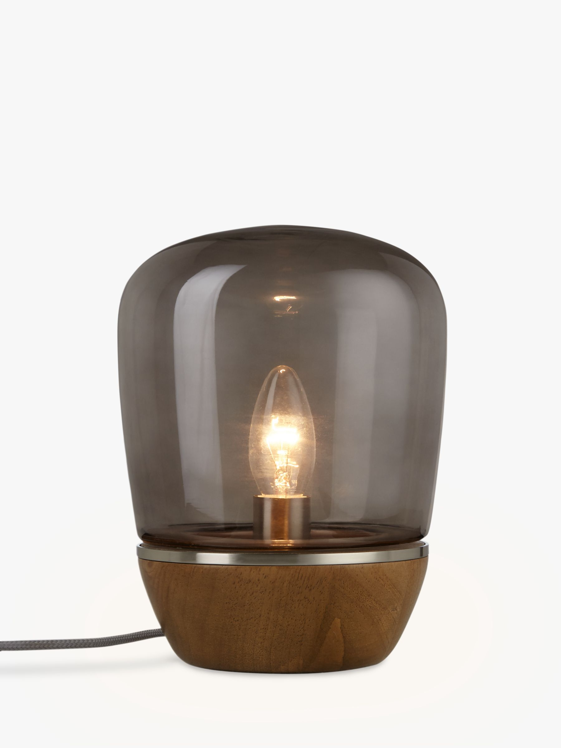 Glass Lamp John Lewis John Lewis And Partners Hanna Smoky Glass Table Lamp Walnut