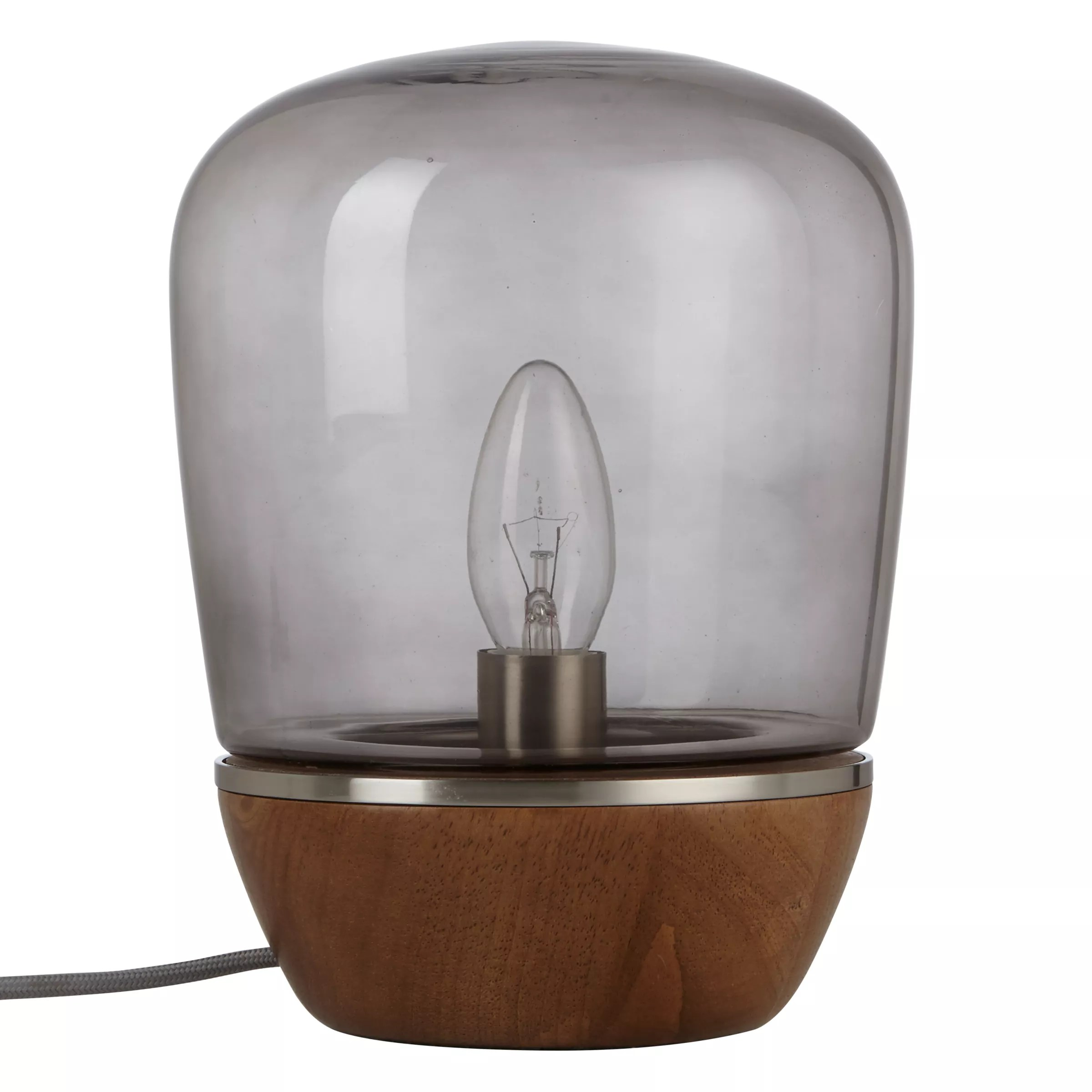 Glass Lamp John Lewis John Lewis Hanna Smoky Glass Table Lamp Walnut Stain At
