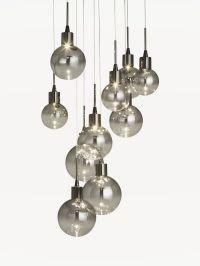 Buy John Lewis Dano LED Ombre Glass Ceiling Light, 10 ...