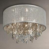 Buy John Lewis Tiffany Semi Flush Ceiling Light, Silver ...