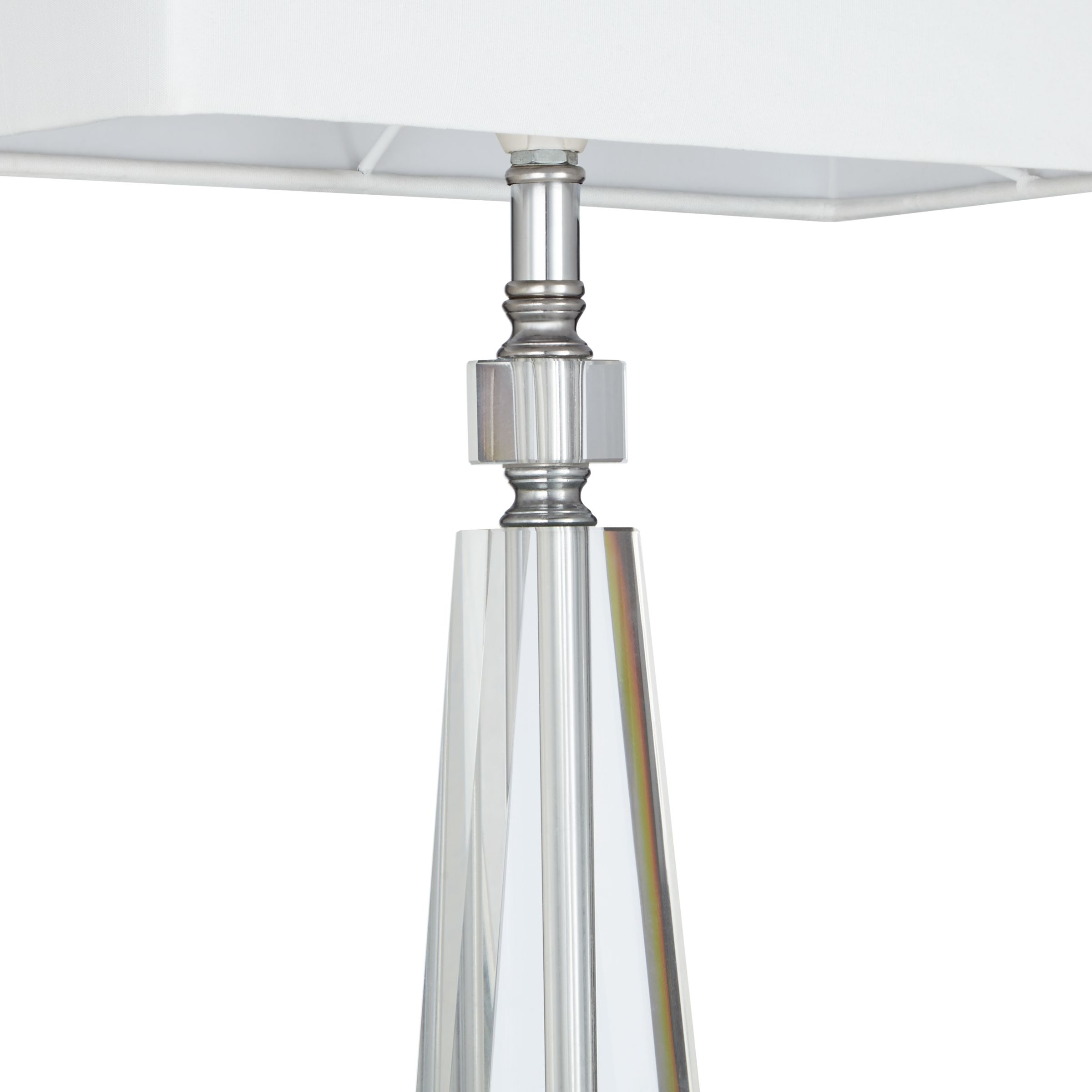Glass Lamp John Lewis John Lewis And Partners Trisha Triangle Glass Table Lamp