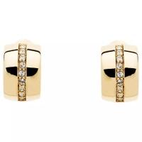 Buy Monet Swarovski Crystal Half Hoop Clip-On Earrings ...