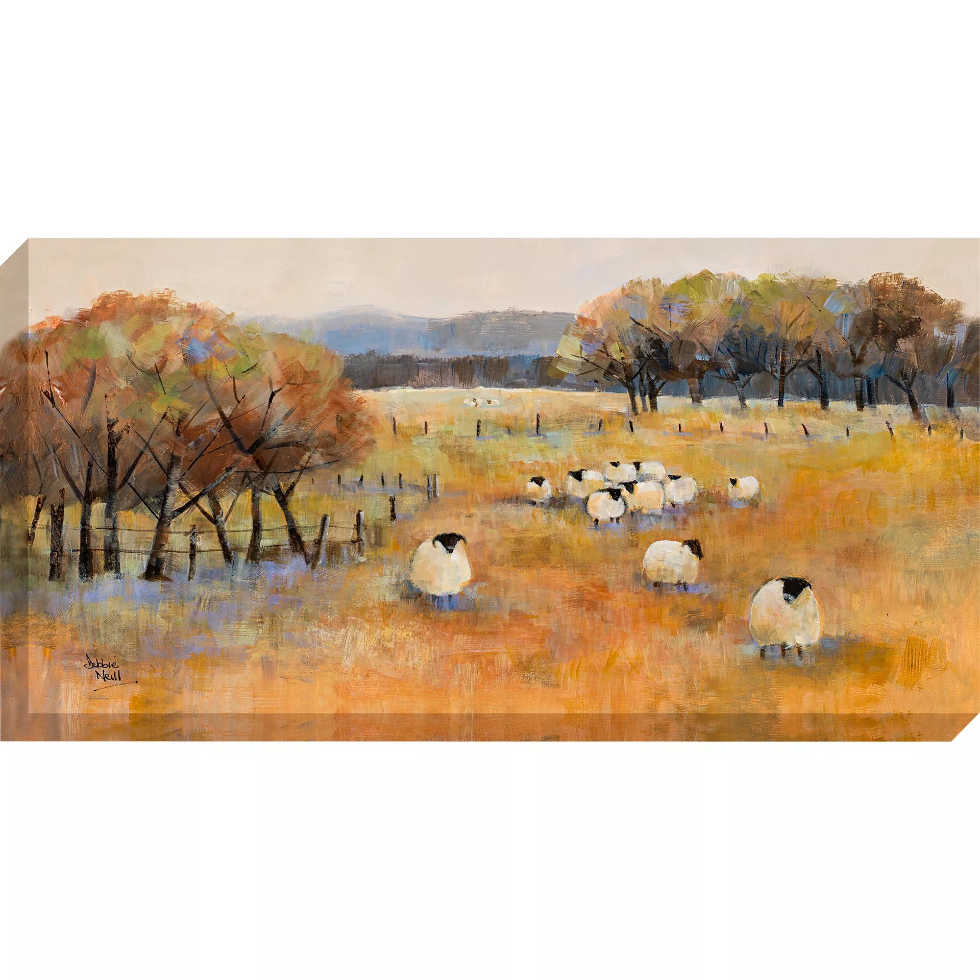 Debbie Neill Sheep Gathering Canvas Print 100 X 50cm At John Lewis Partners
