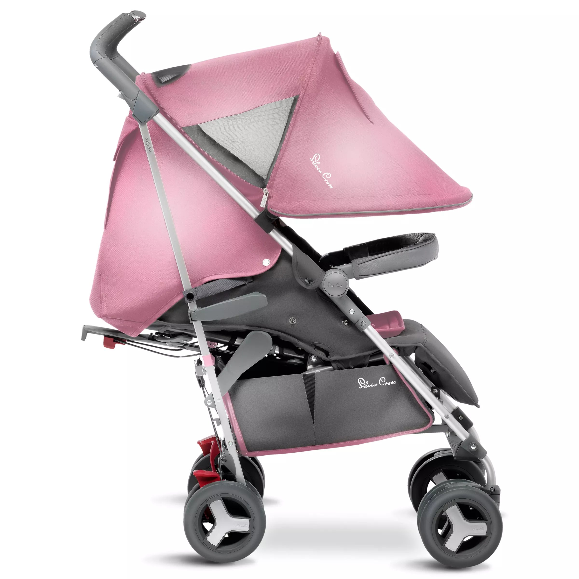 Toddler Pushchair Up To 25kg Silver Cross Reflex Pushchair Vintage Pink At John Lewis