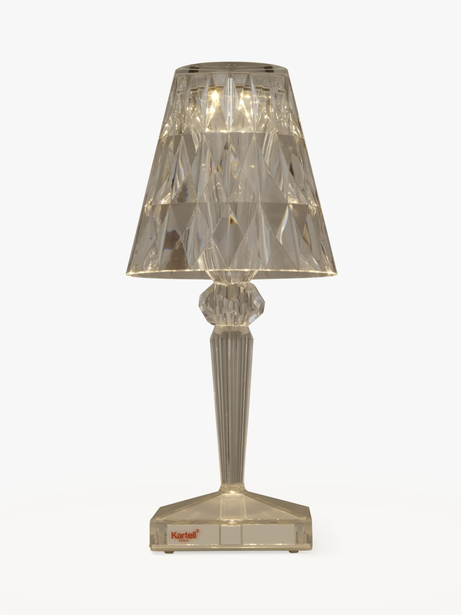 Lamp Kartell Kartell Battery Table Lamp Clear