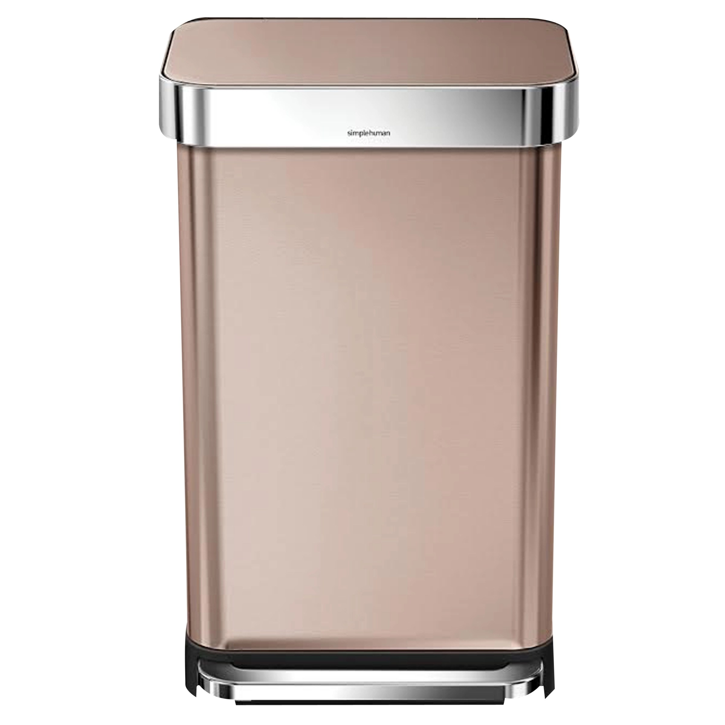 Rose Gold Trash Can Simplehuman Liner Pocket Pedal Bin Rose Gold 45l At John