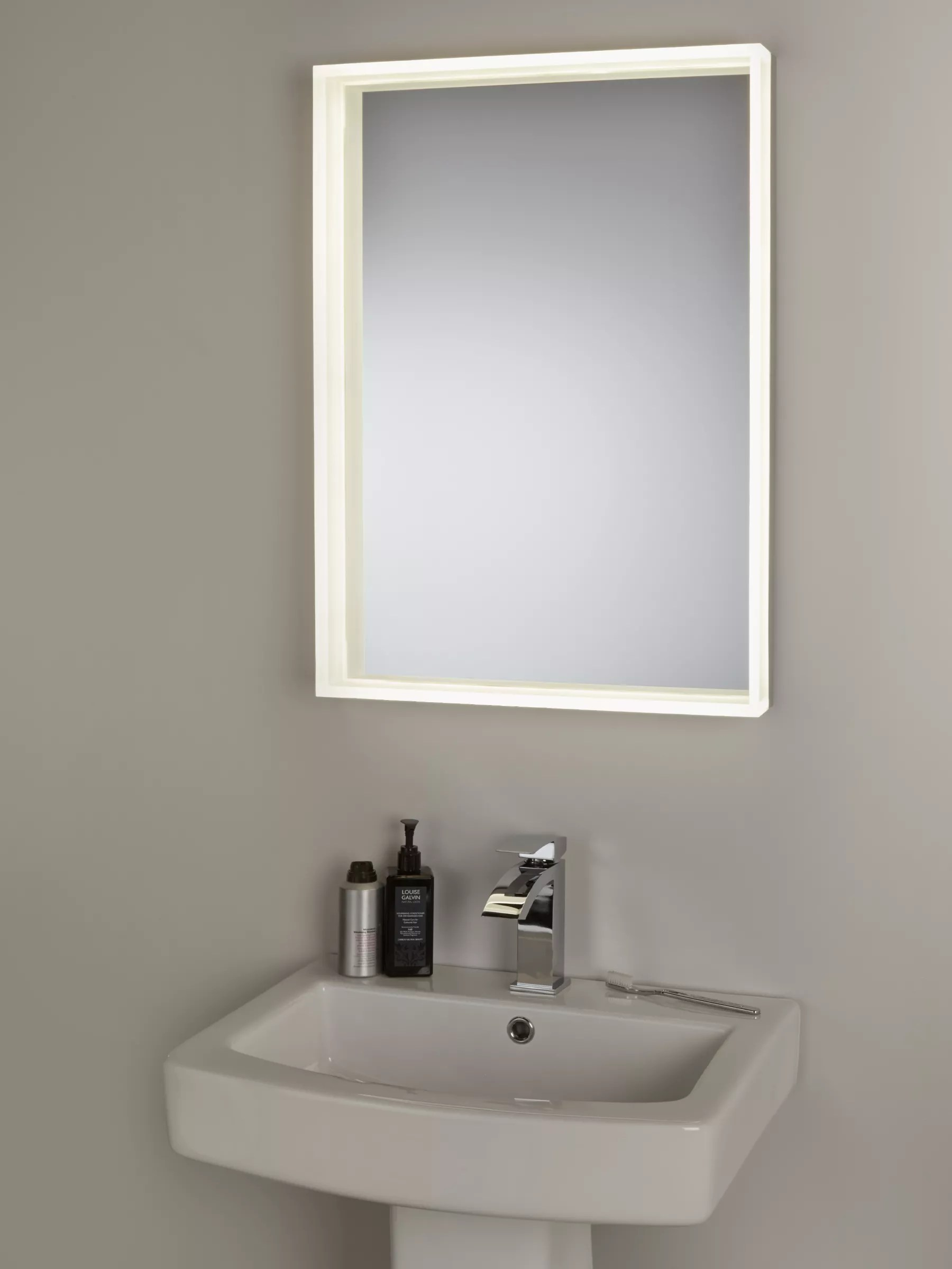 Tv In Bathroom Mirror Price John Lewis And Partners Led Prism Illuminated Bathroom