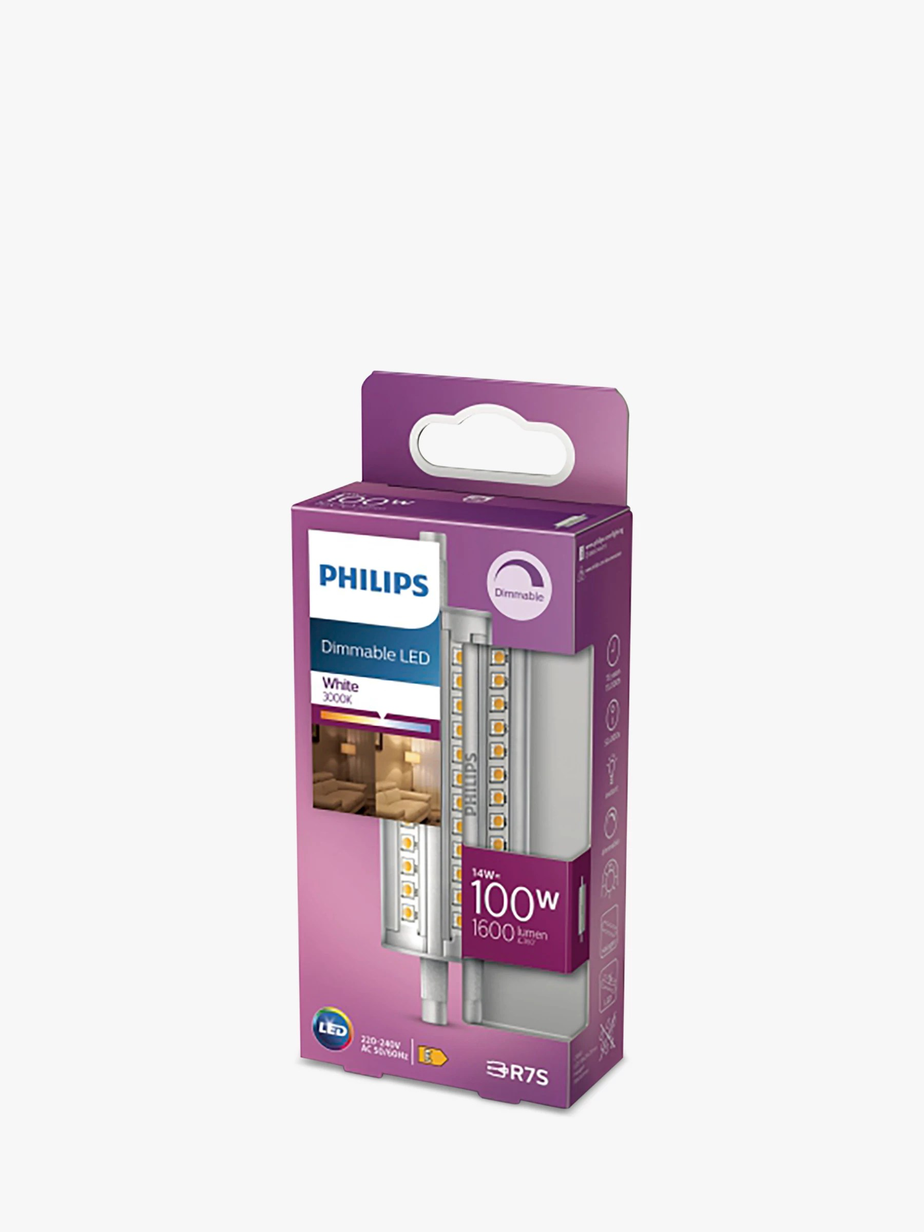 R7s Led Philips 14w R7s Led Dimmable Tube Bulb Clear At John Lewis Partners