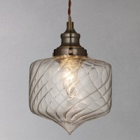 John Lewis Romilly Twisted Glass Pendant Ceiling Light at ...
