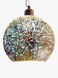 John Lewis Oberon Holographic Pendant Ceiling Light, Multi ...