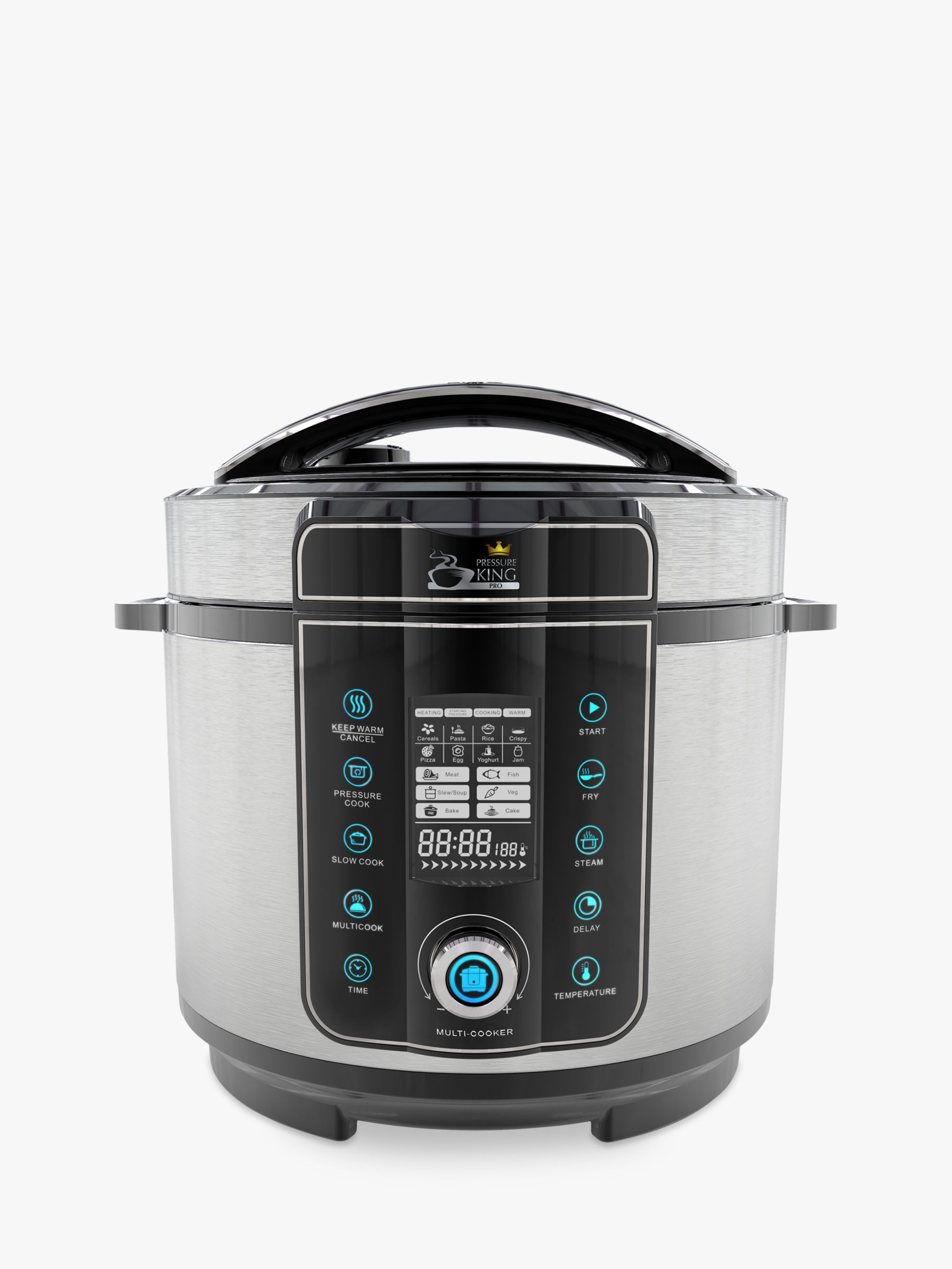 Big W Pressure Cooker Pressure King Pro 20 In 1 6l Digital Multi Cooker Black Chrome At
