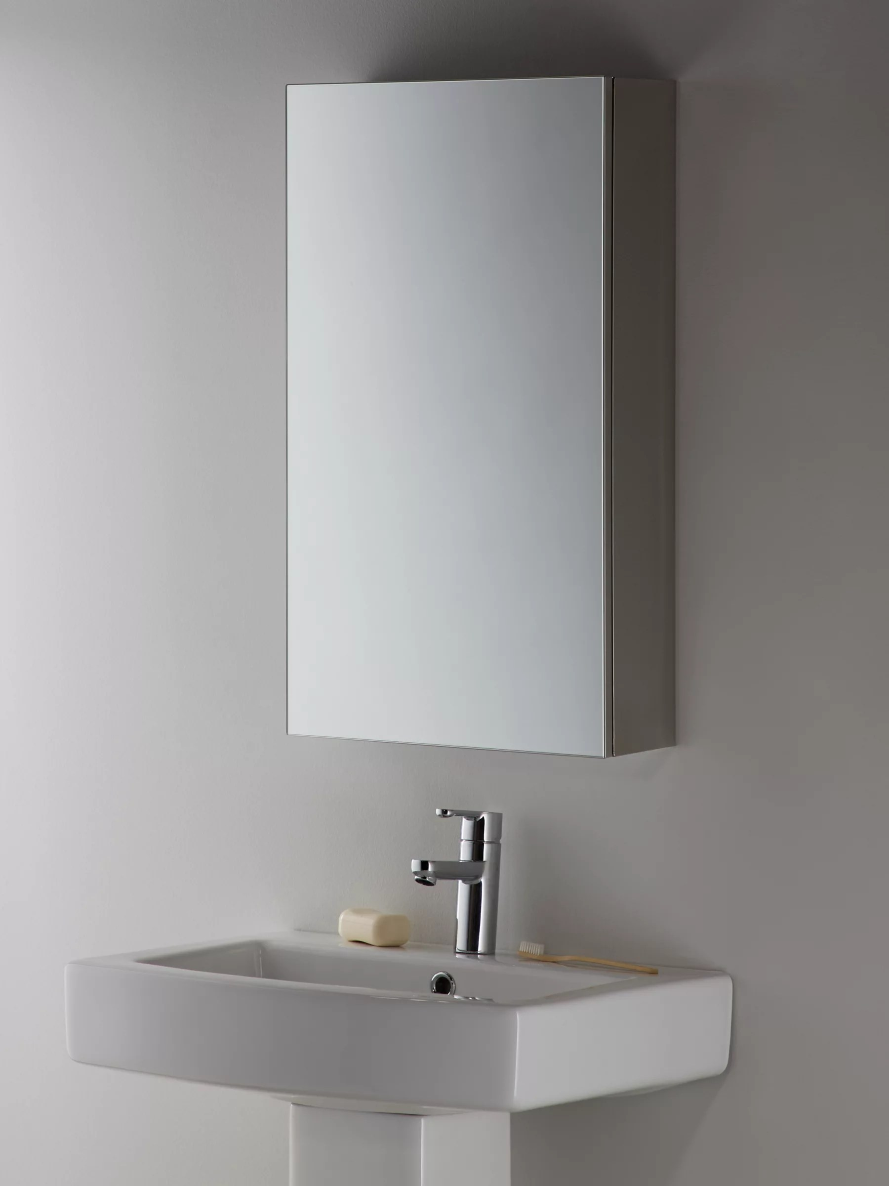 Mirrored Bathroom Cupboard John Lewis And Partners Single Mirrored Bathroom Cabinet