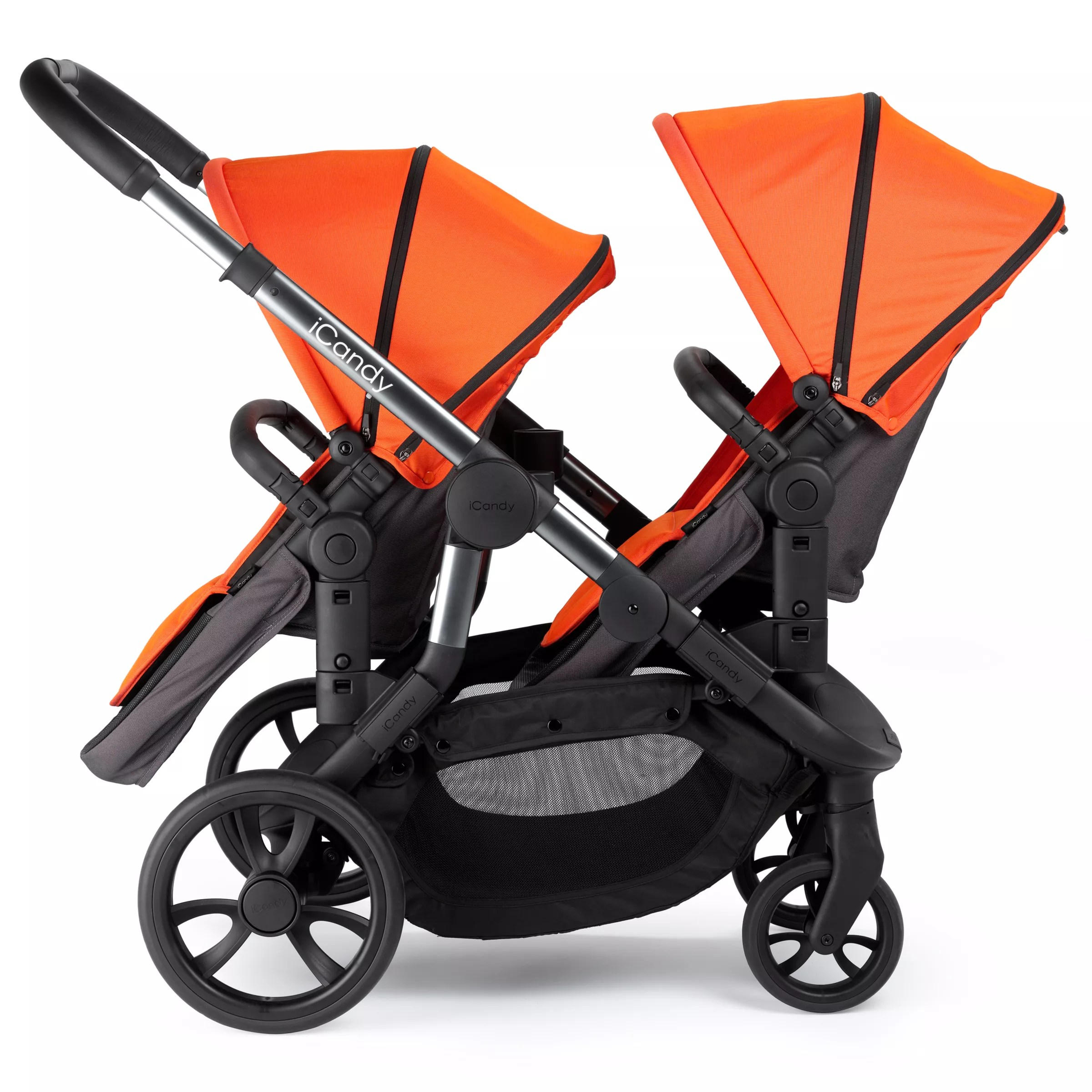 Double Buggy In Sale Icandy Orange Pushchair Flame