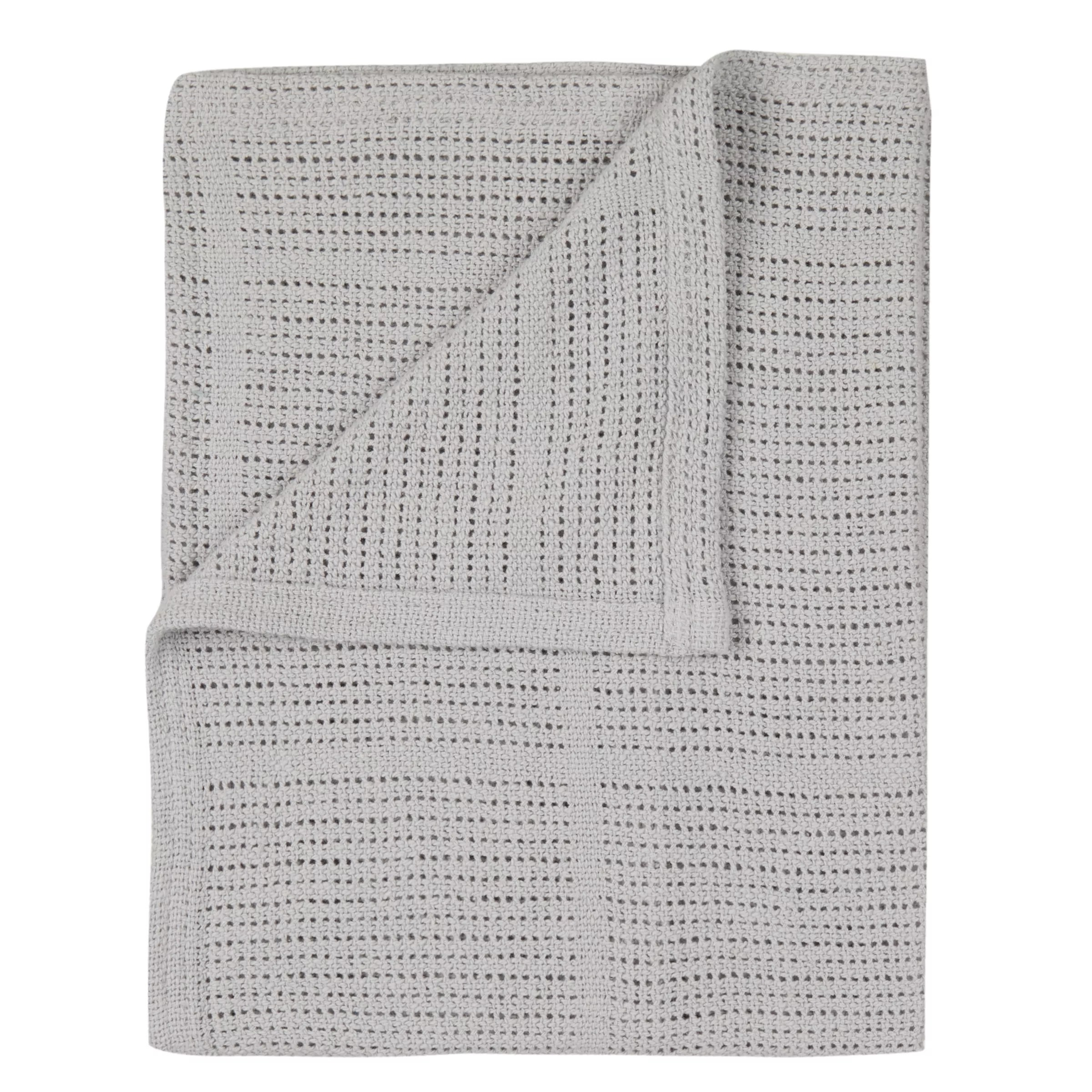 Cellular Cot Blankets John Lewis Partners Baby Cot Cotbed Cellular Blanket Grey At
