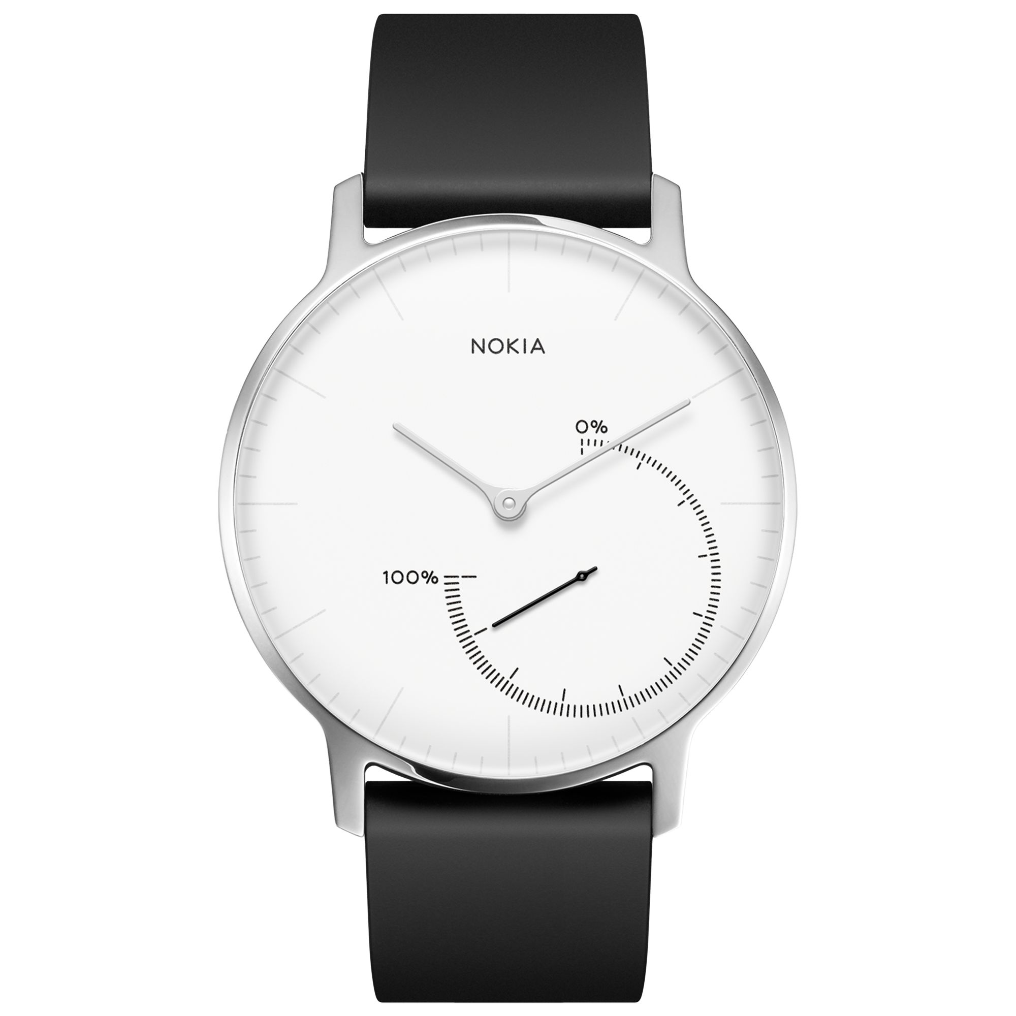 Steel Watch Withings Nokia Steel Activity Sleep Tracking Watch Black White