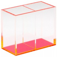 Buy Lund London Chunky Double Acrylic Pen Holder, Pink ...
