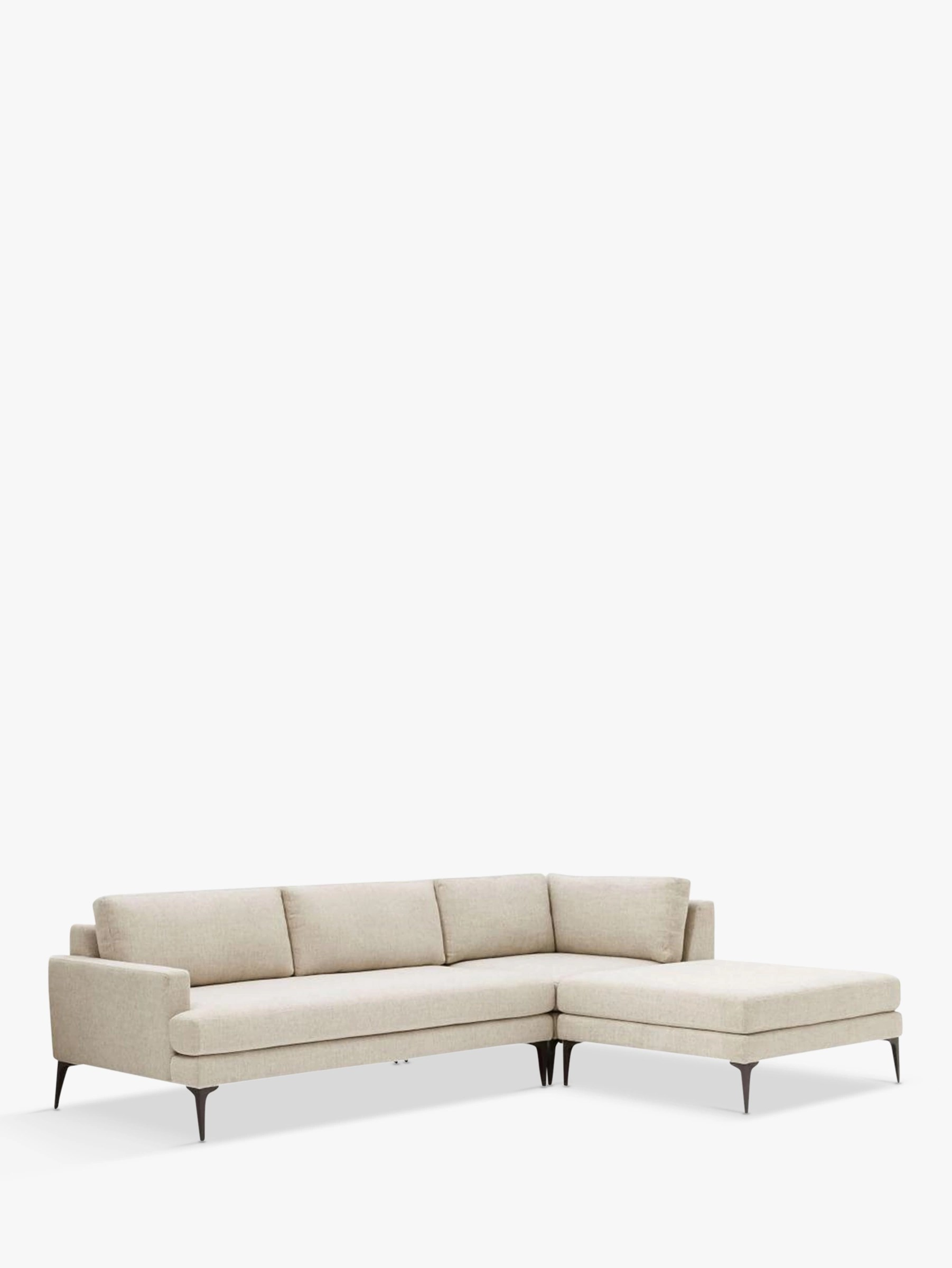 Big Sofa Occasion West Elm Andes Large 3 Seater Rhf Sectional Sofa At John Lewis