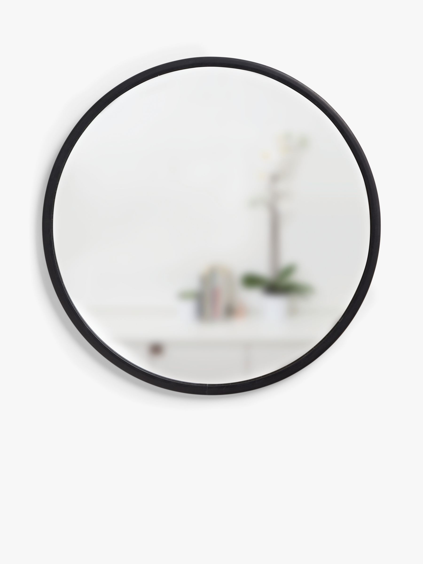 Buy Round Mirror Umbra Rubber Hub Round Mirror Dia 60cm Black At John