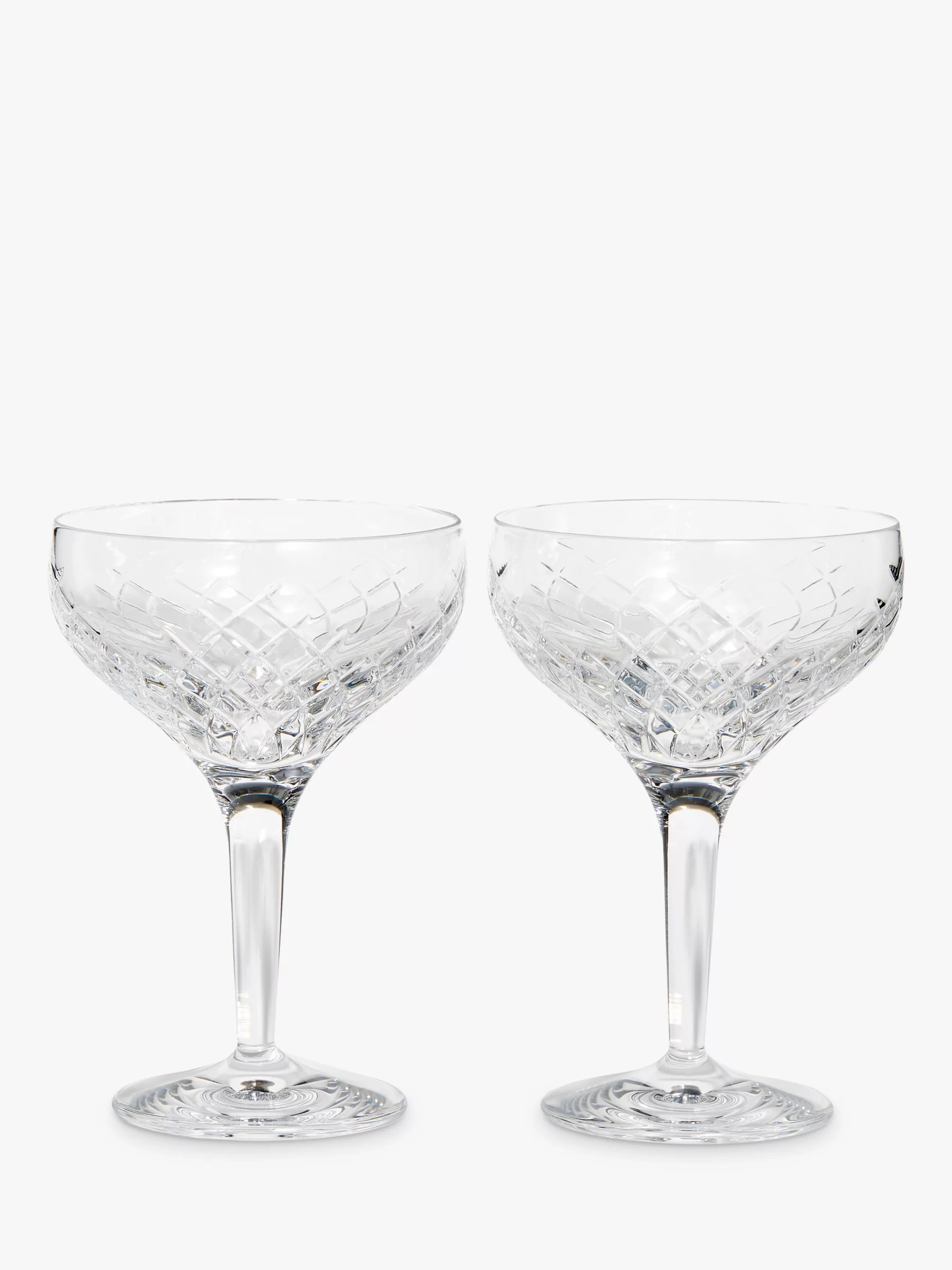 Champagne Coupe Soho Home Barwell Crystal Cut Champagne Coupe Glasses 250ml Set Of 2