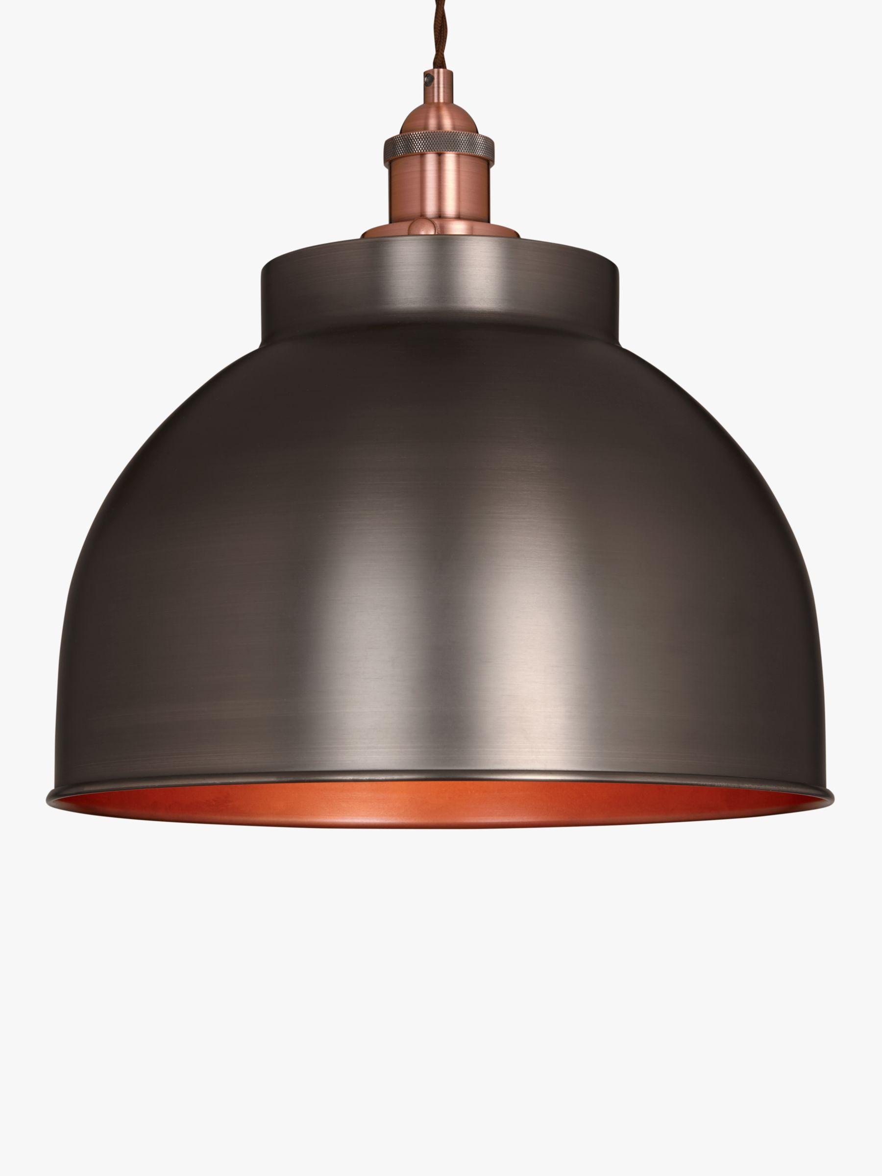 John Lewis Baldwin Large Pendant Ceiling Light, Pewter at
