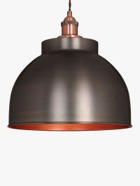 John Lewis Baldwin Large Pendant Ceiling Light, Pewter at ...