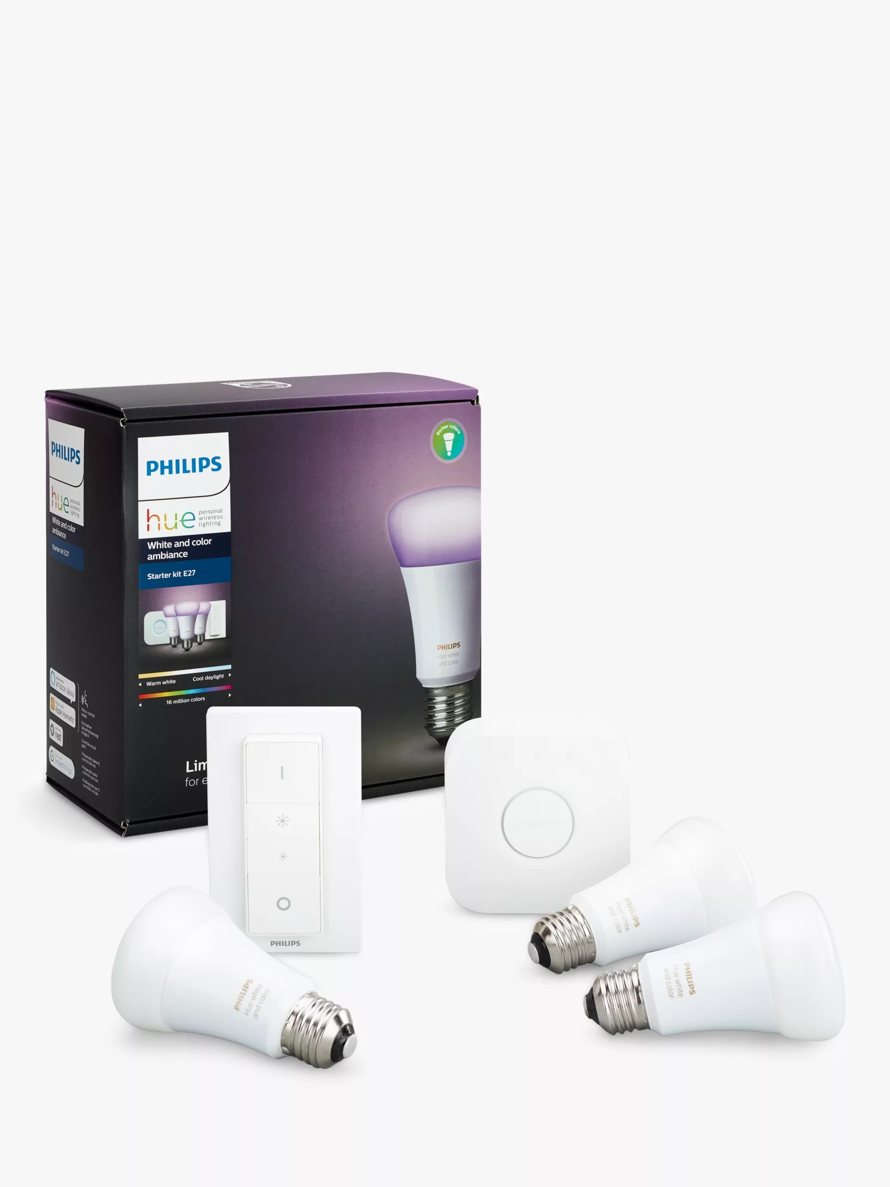 Philips Hue Starter Kit E27 Philips Hue White And Colour Ambiance Wireless Lighting Led