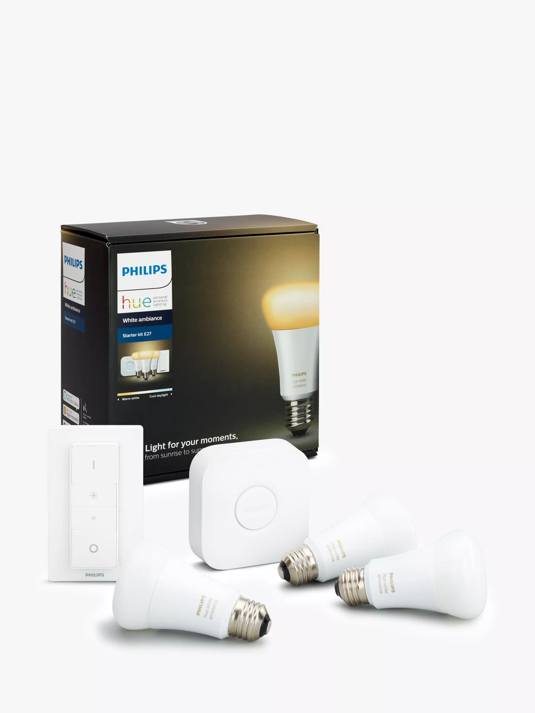 Philips Hue Starter Kit E27 Philips Hue White Ambiance Wireless Lighting Led Starter Kit With