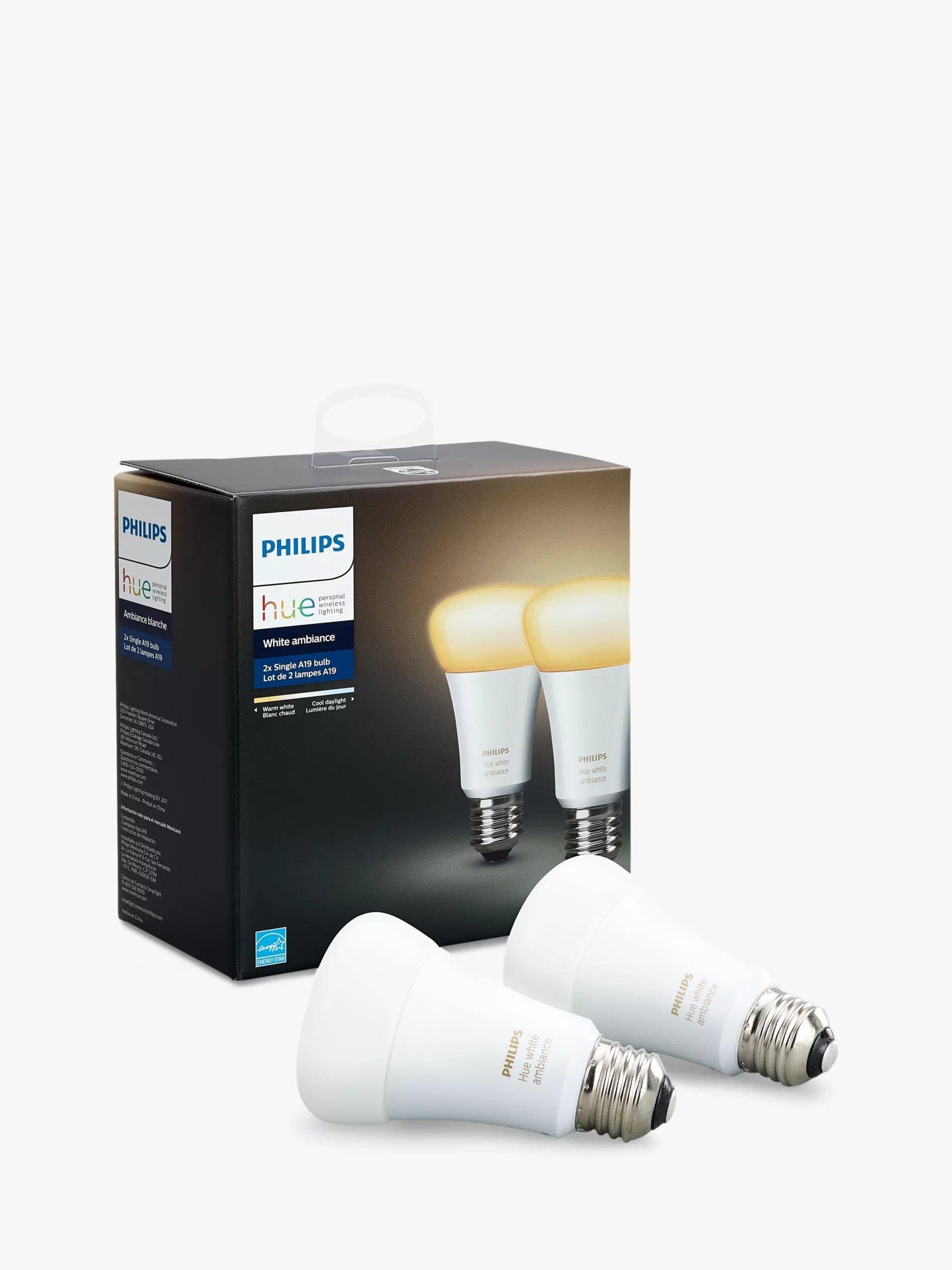 Philips Hue Starter Kit E27 Philips Hue White Ambiance Wireless Lighting Led Light Bulb 9 5w