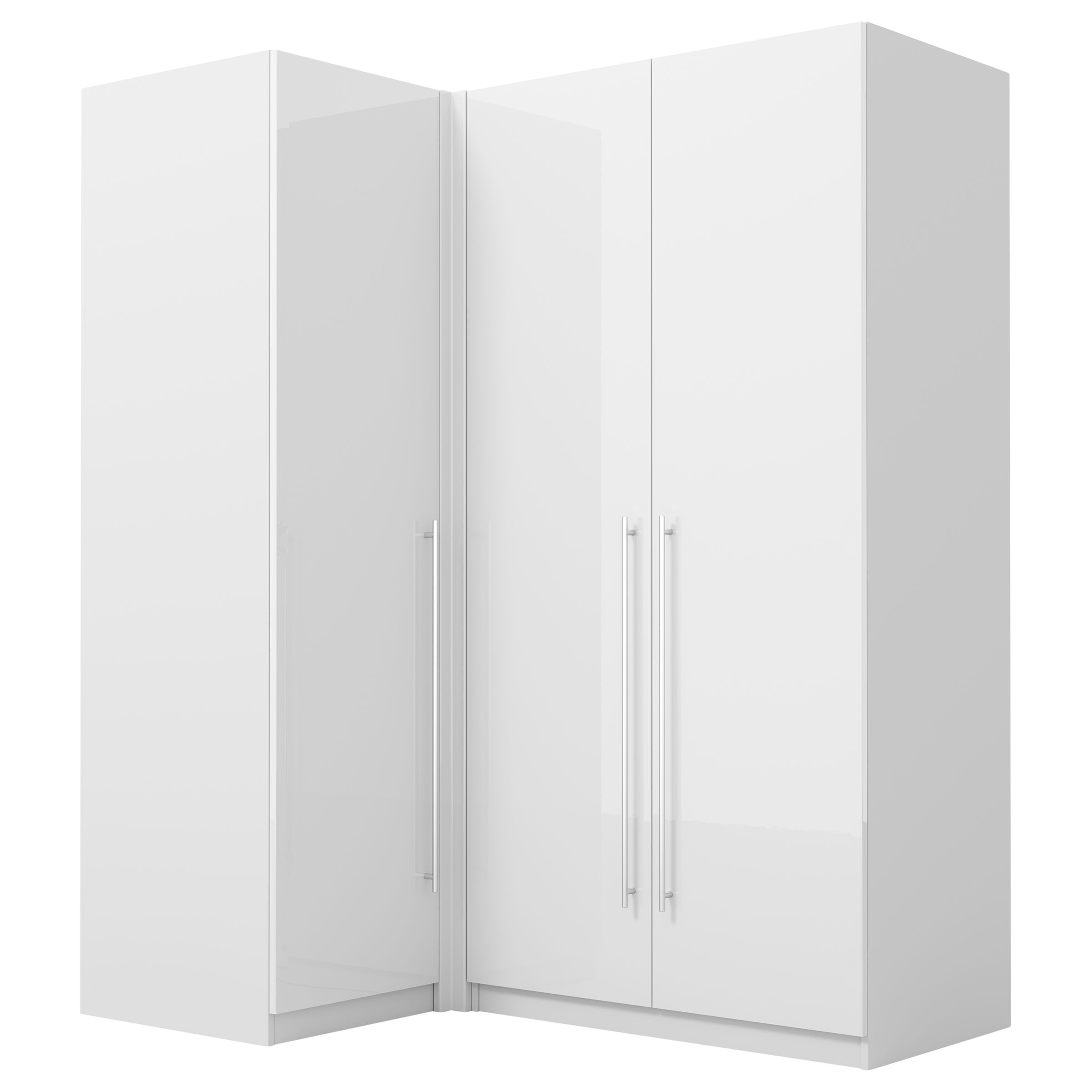 Corner Wardrobe House By John Lewis Mix It Long T Bar Handle Corner Wardrobe Gloss White Matt White