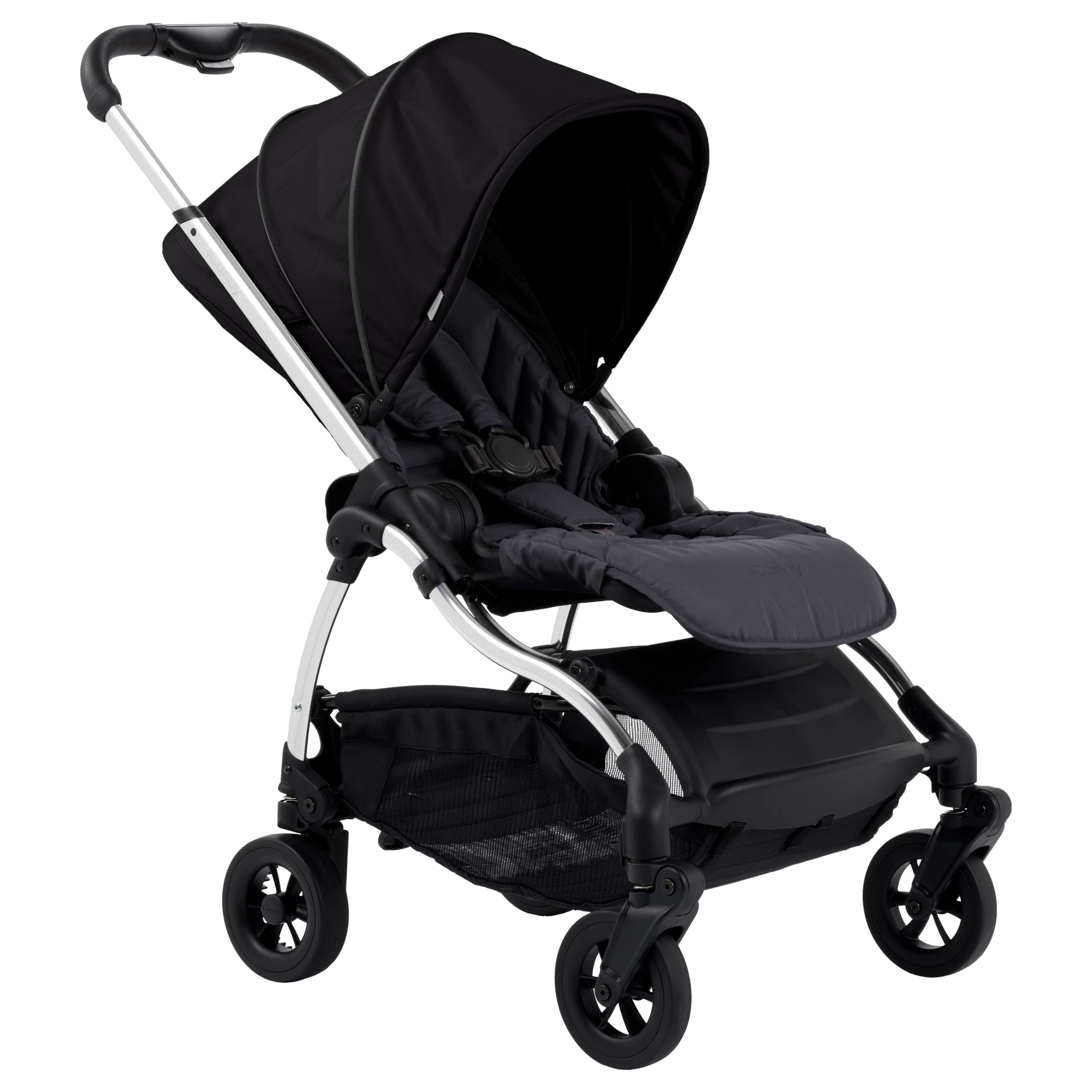 Best Pushchairs Independent Icandy Raspberry Pushchair Chrome Bloomsbury Black