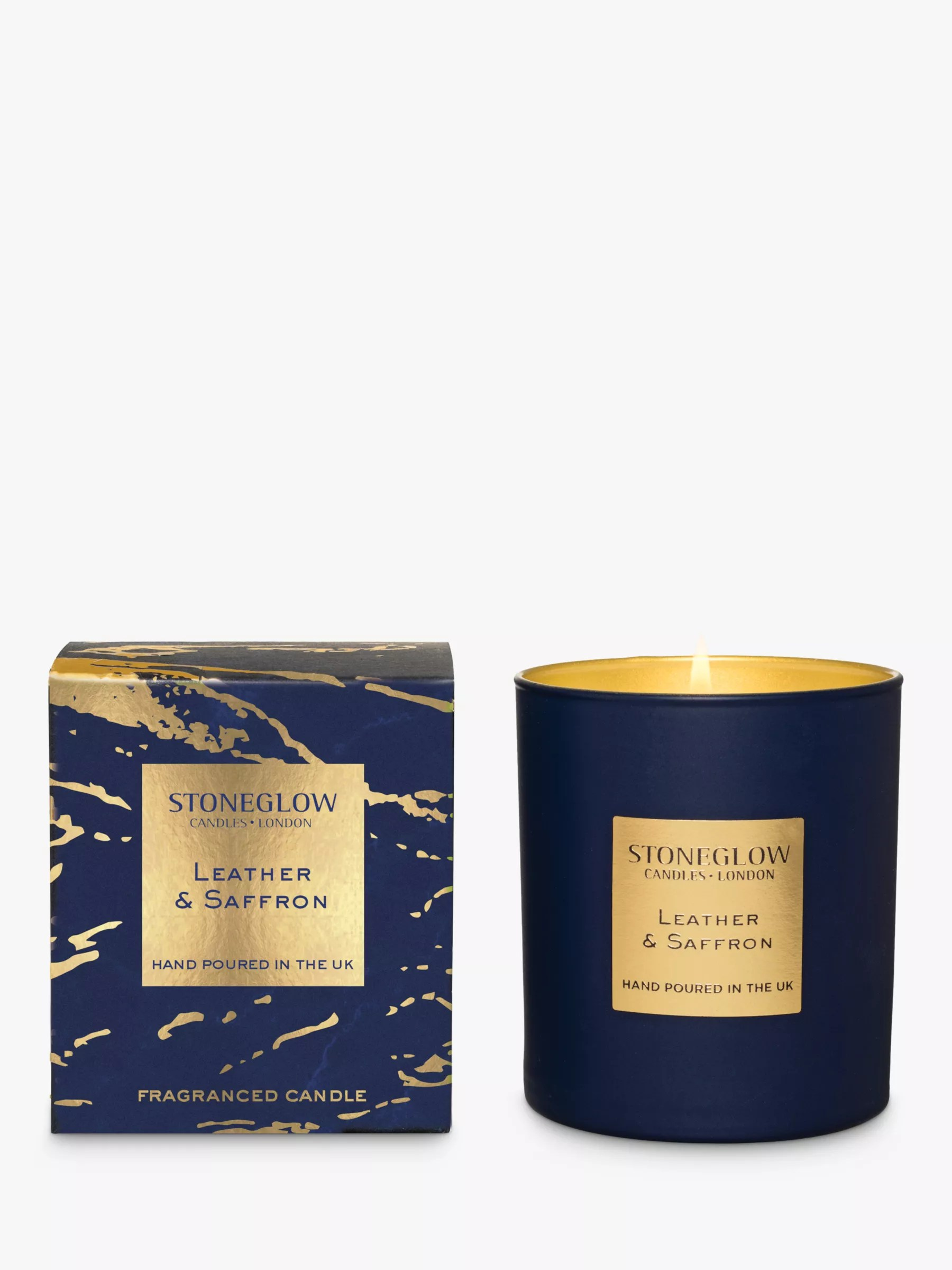 Buy Candles Online Stoneglow Luna Leather Saffron Scented Candle At John Lewis