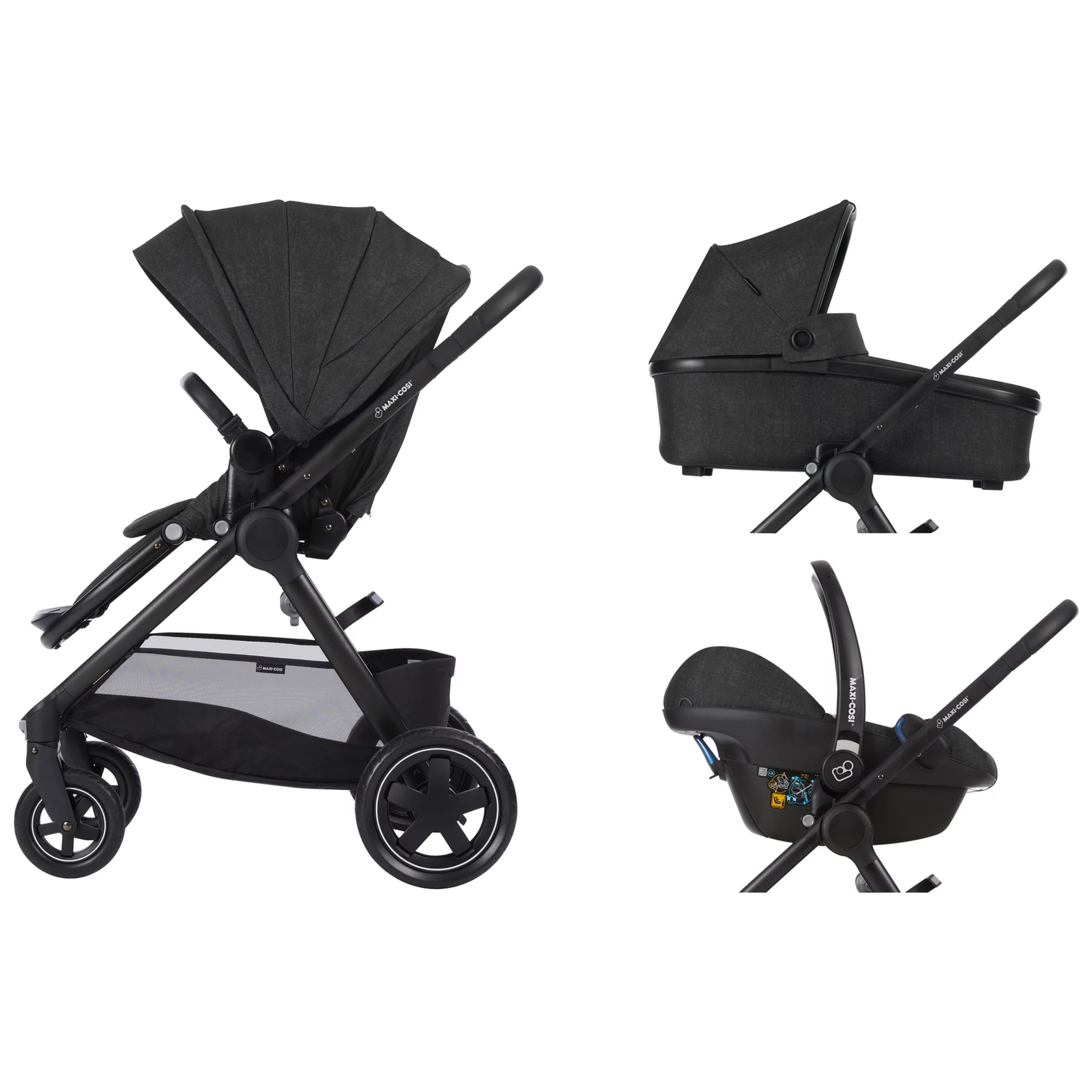 Maxi-cosi Adorra Travel System - Graphic Flower Maxi Cosi Adorra Pushchair Nomad Black