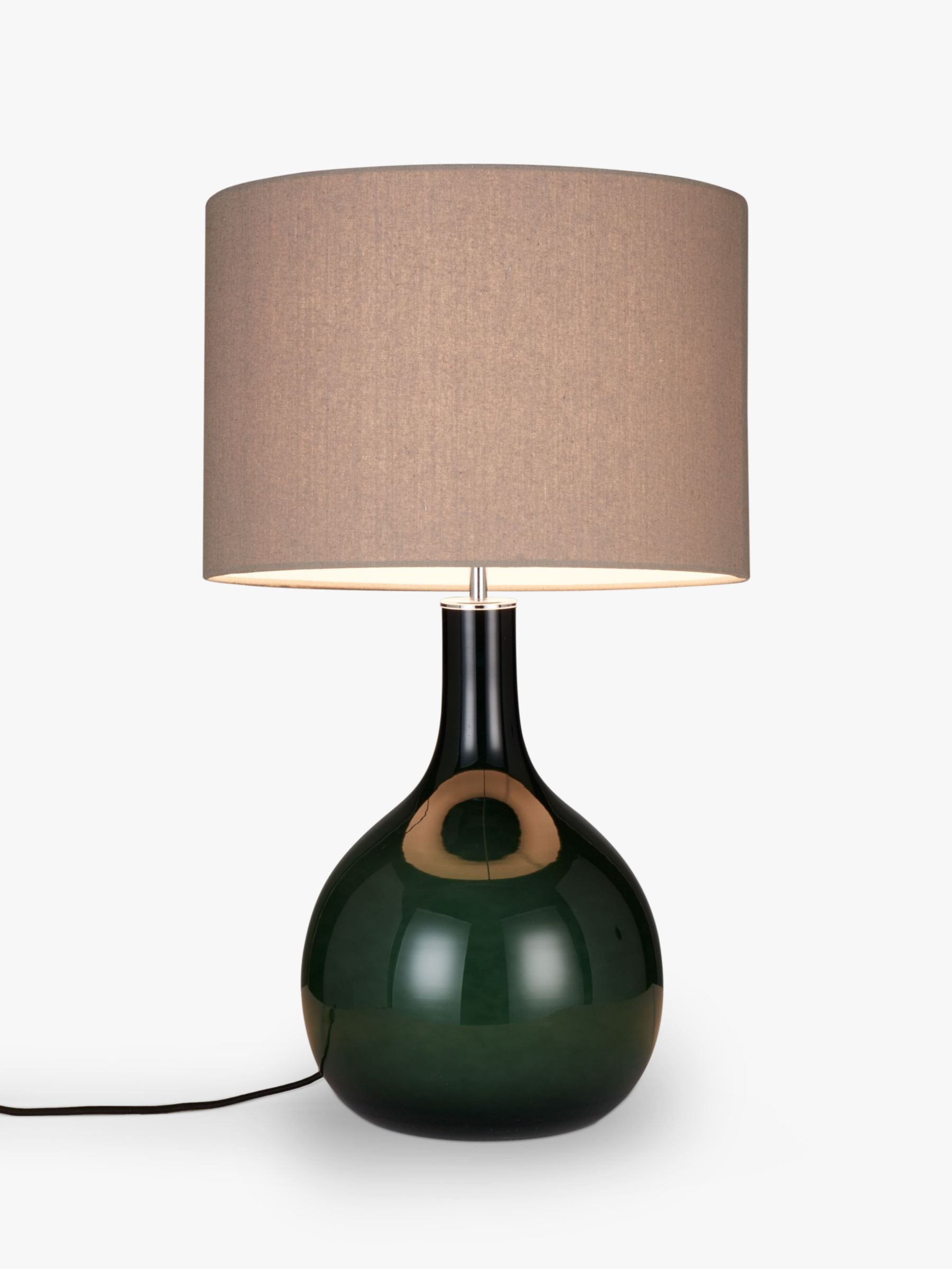 Glass Lamp Tables Ireland John Lewis Partners Faye Glass Table Lamp Green At John Lewis