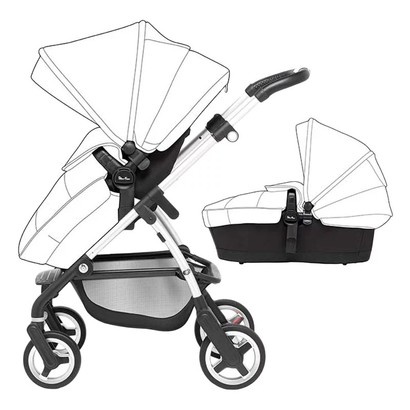 Silver Cross Camden Pushchair Silver Cross Wayfarer Pushchair Seat Chassis And Carrycot Base
