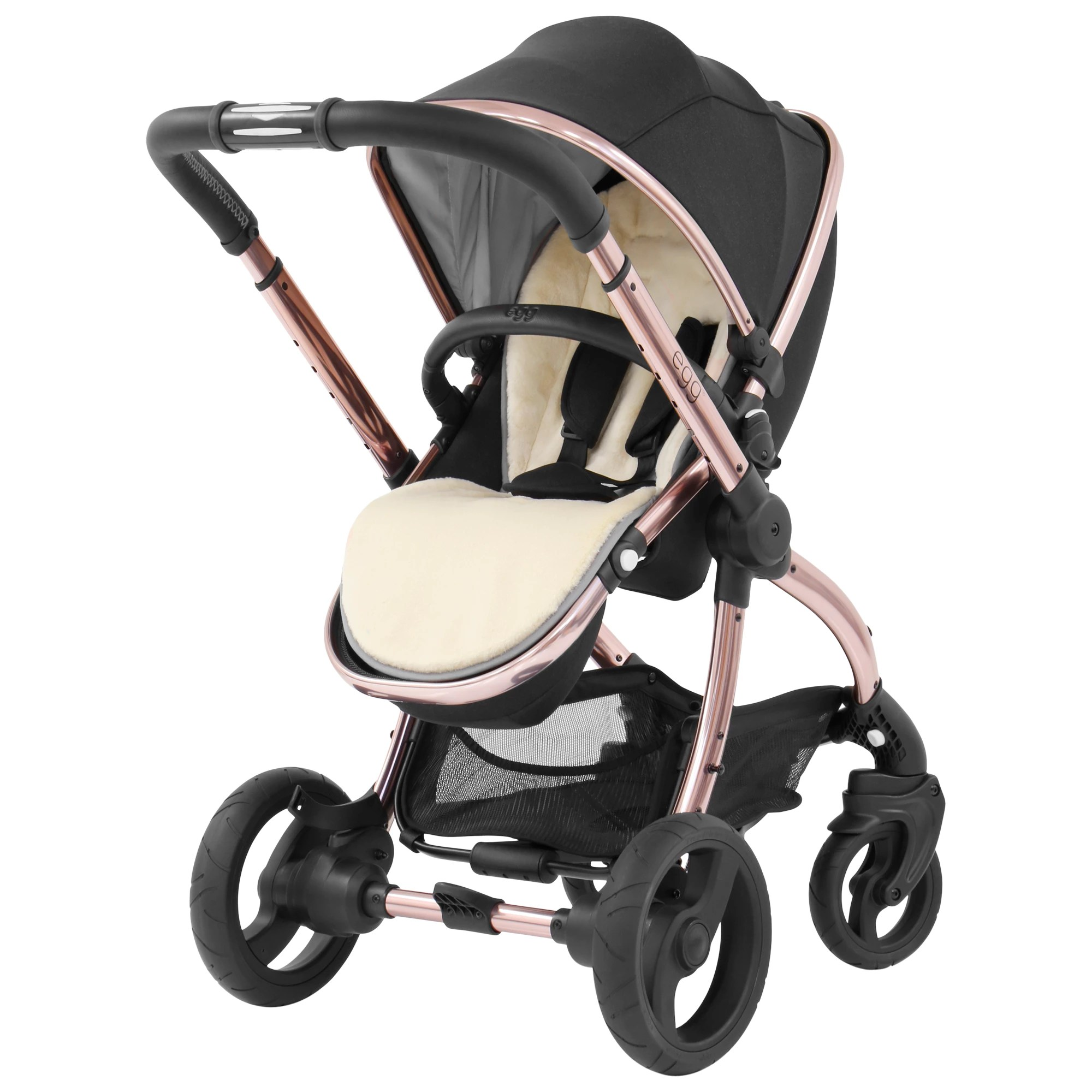 Egg Stroller For Twins Egg Stroller Base And Seat With Fleece Liner Black Diamond