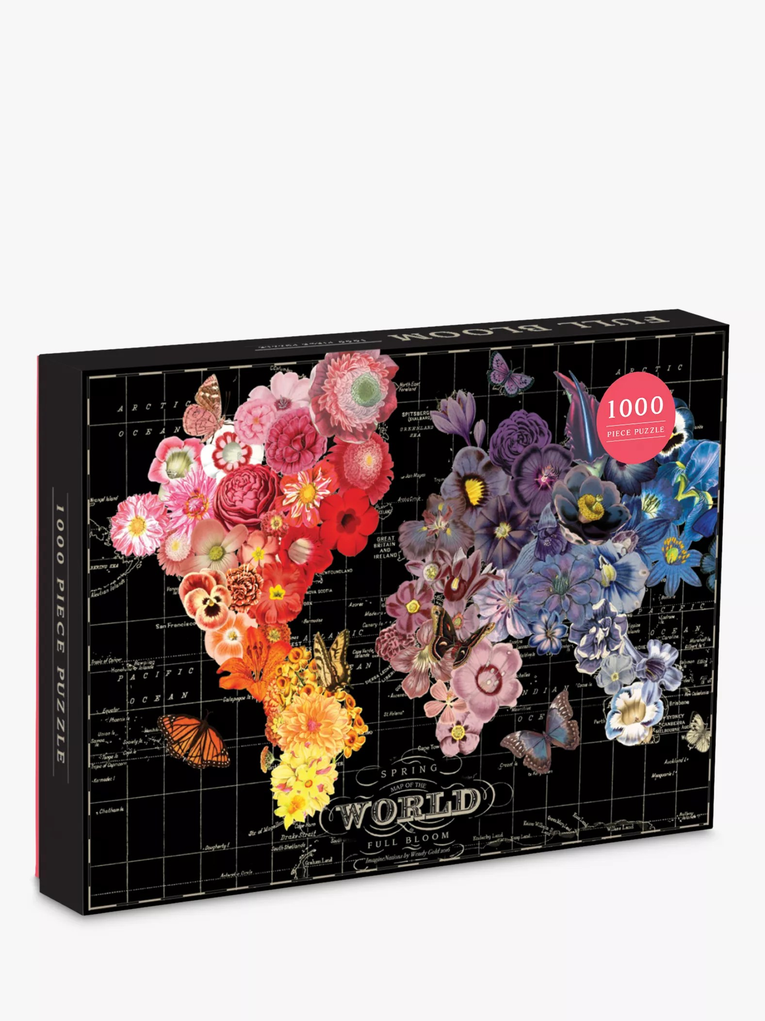 Puzzle Shop Brisbane Galison Full Bloom Map Jigsaw Puzzle 1000 Pieces At John Lewis