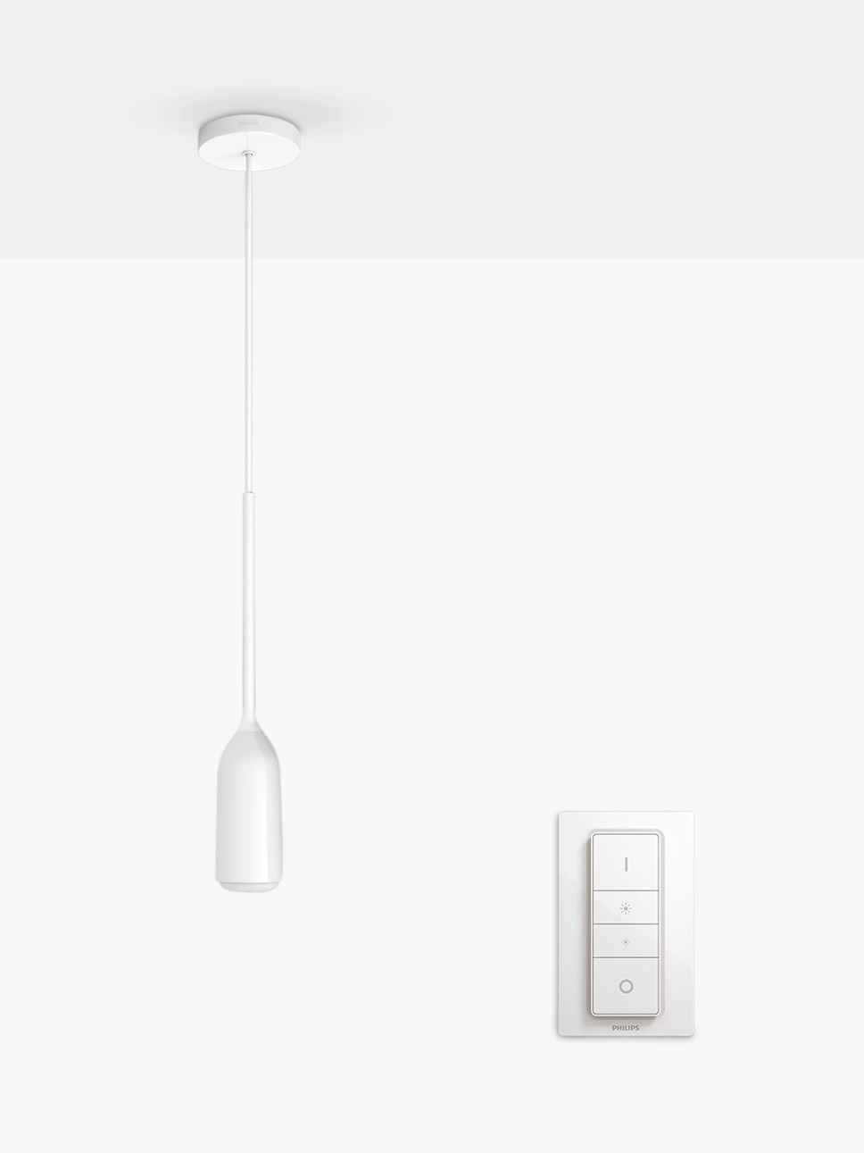 Philips Dimmer Philips Hue White Ambiance Devote Ceiling Light And Dimmer White