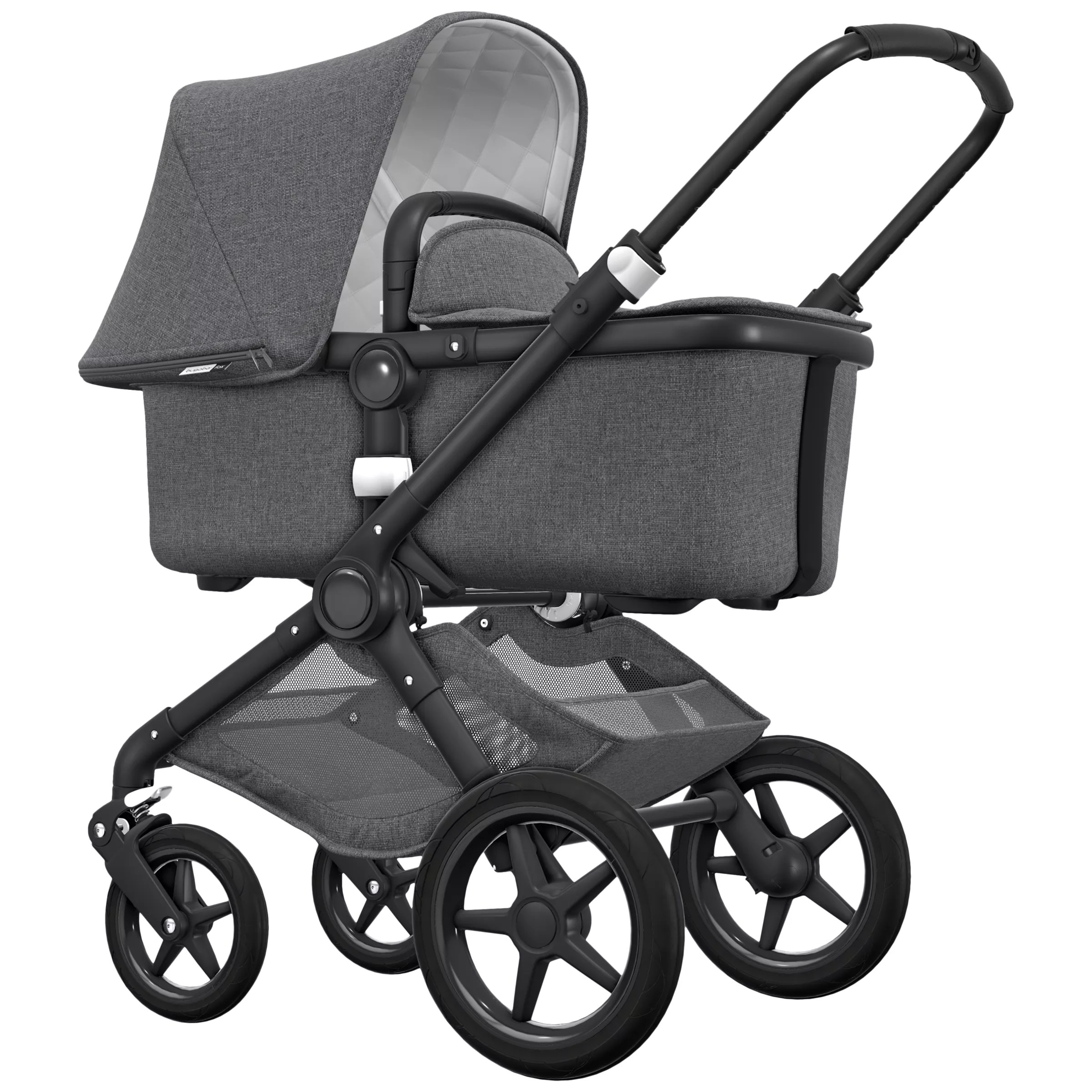 Bugaboo Grey Baby Bag Bugaboo Fox Classic Complete Pushchair Grey Melange At