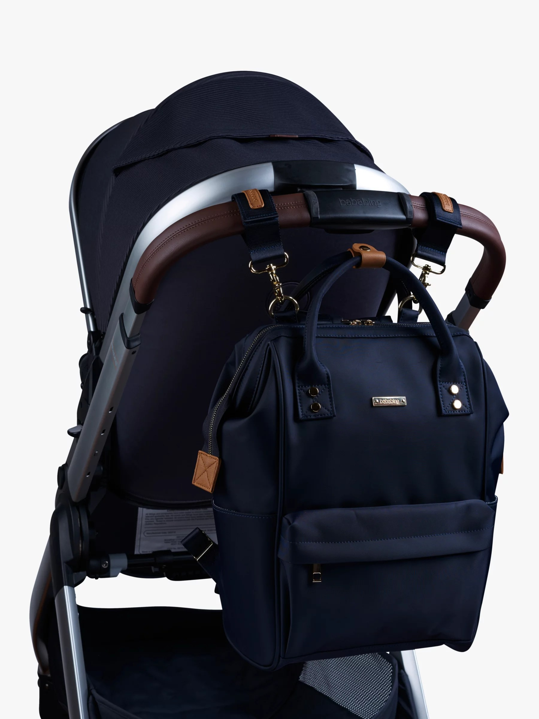 Travel Buggy Suitable From Birth Bababing Mani Changing Backpack Navy At John Lewis